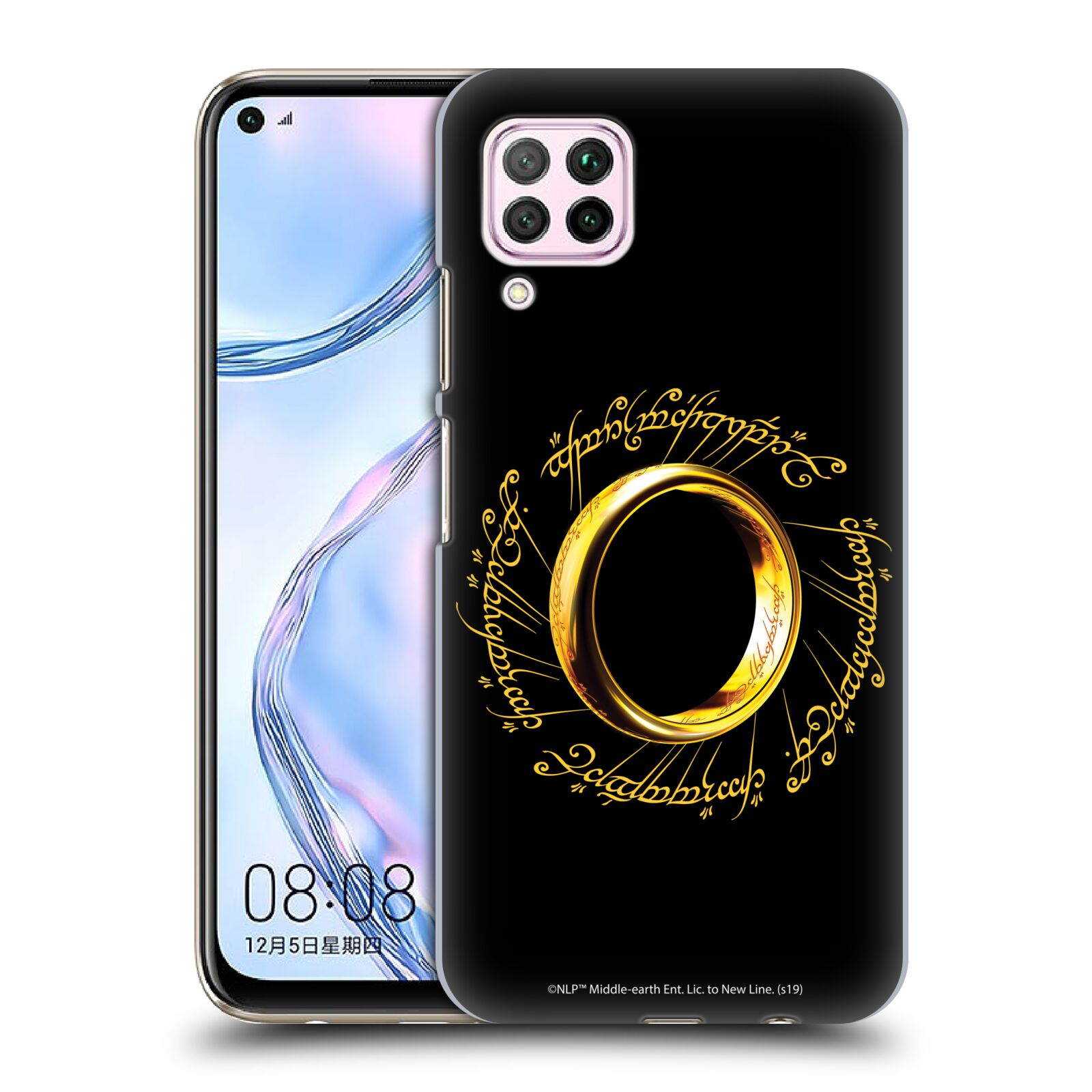 Official The Lord Of The Rings: The Fellowship Of The Ring Graphics One Ring Case for Huawei Nova 6 SE