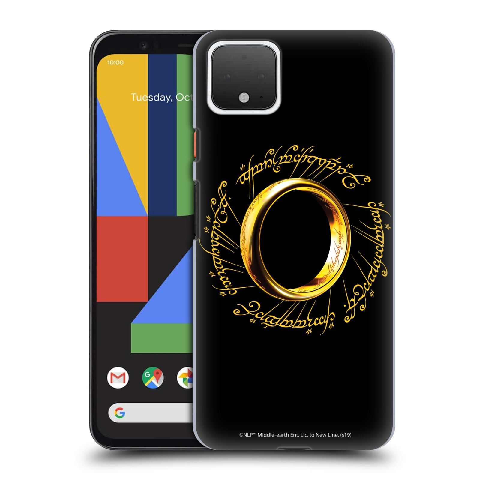 Official The Lord Of The Rings: The Fellowship Of The Ring Graphics One Ring Case for Google Pixel 4