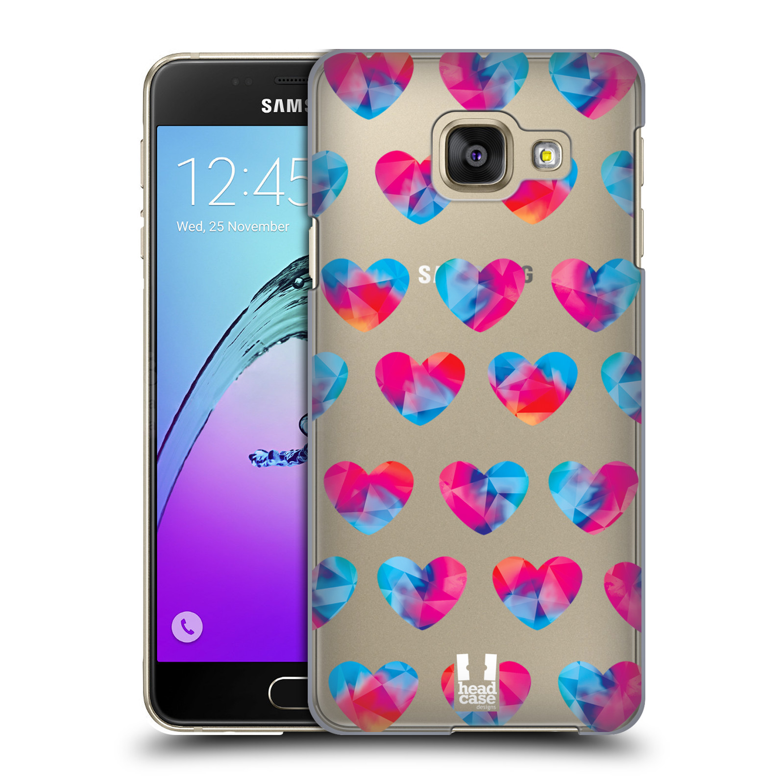 Plastové pouzdro na mobil Samsung Galaxy A3 (2016) - Head Case - Srdíčka hrající barvami