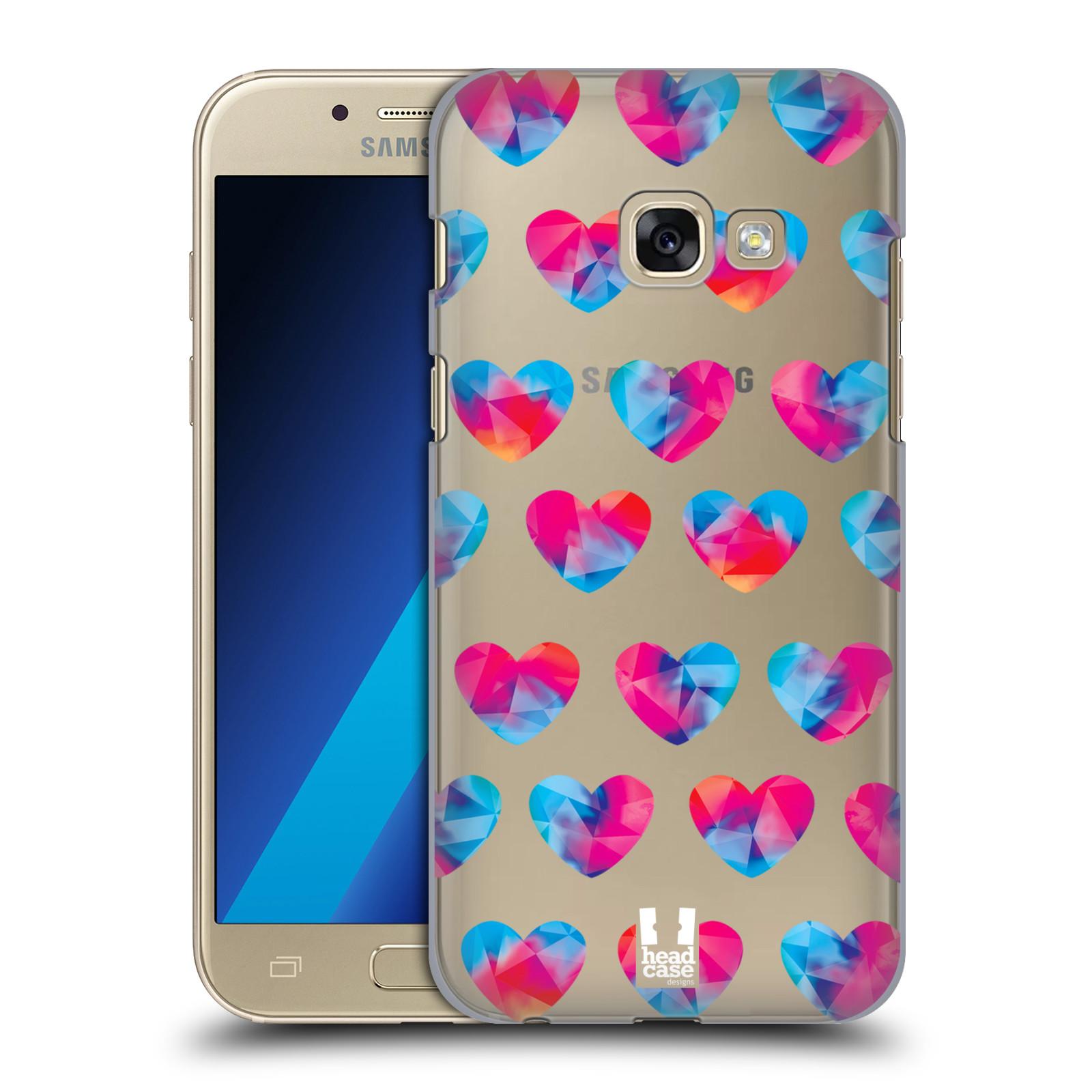 Plastové pouzdro na mobil Samsung Galaxy A3 (2017) - Head Case - Srdíčka hrající barvami