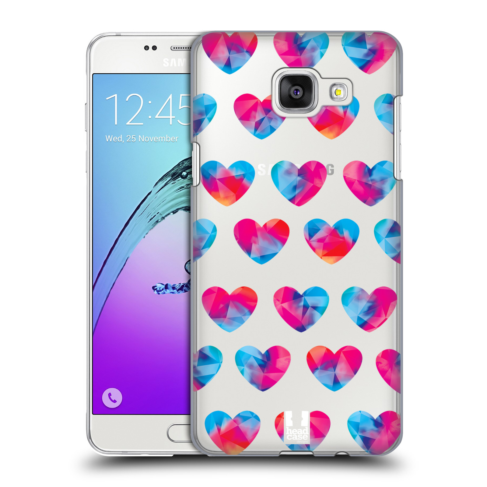 Plastové pouzdro na mobil Samsung Galaxy A5 (2016) - Head Case - Srdíčka hrající barvami