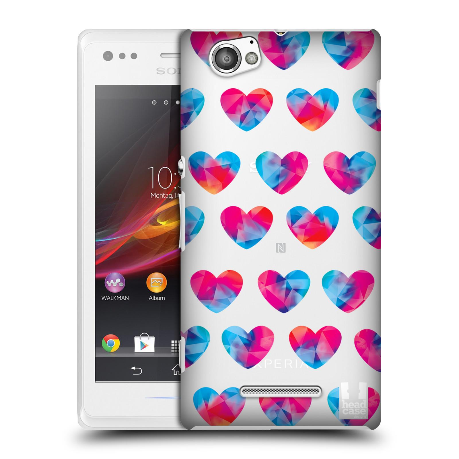 Plastové pouzdro na mobil Sony Xperia M C1905 - Head Case - Srdíčka hrající barvami