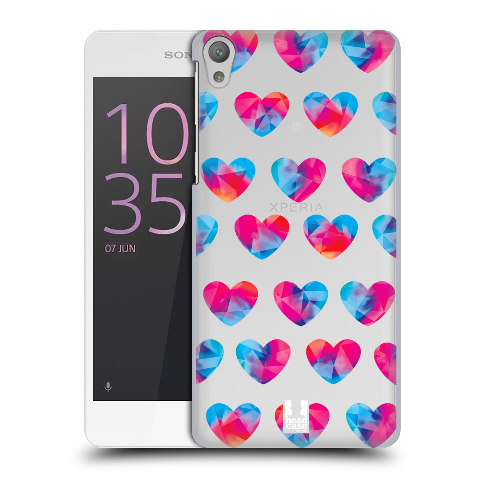 Plastové pouzdro na mobil Sony Xperia E5 - Head Case - Srdíčka hrající barvami