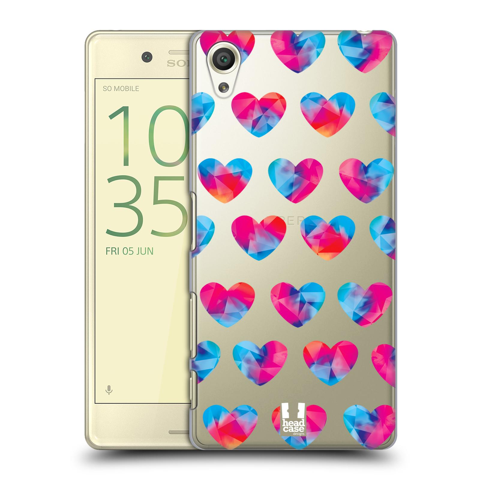Plastové pouzdro na mobil Sony Xperia X - Head Case - Srdíčka hrající barvami