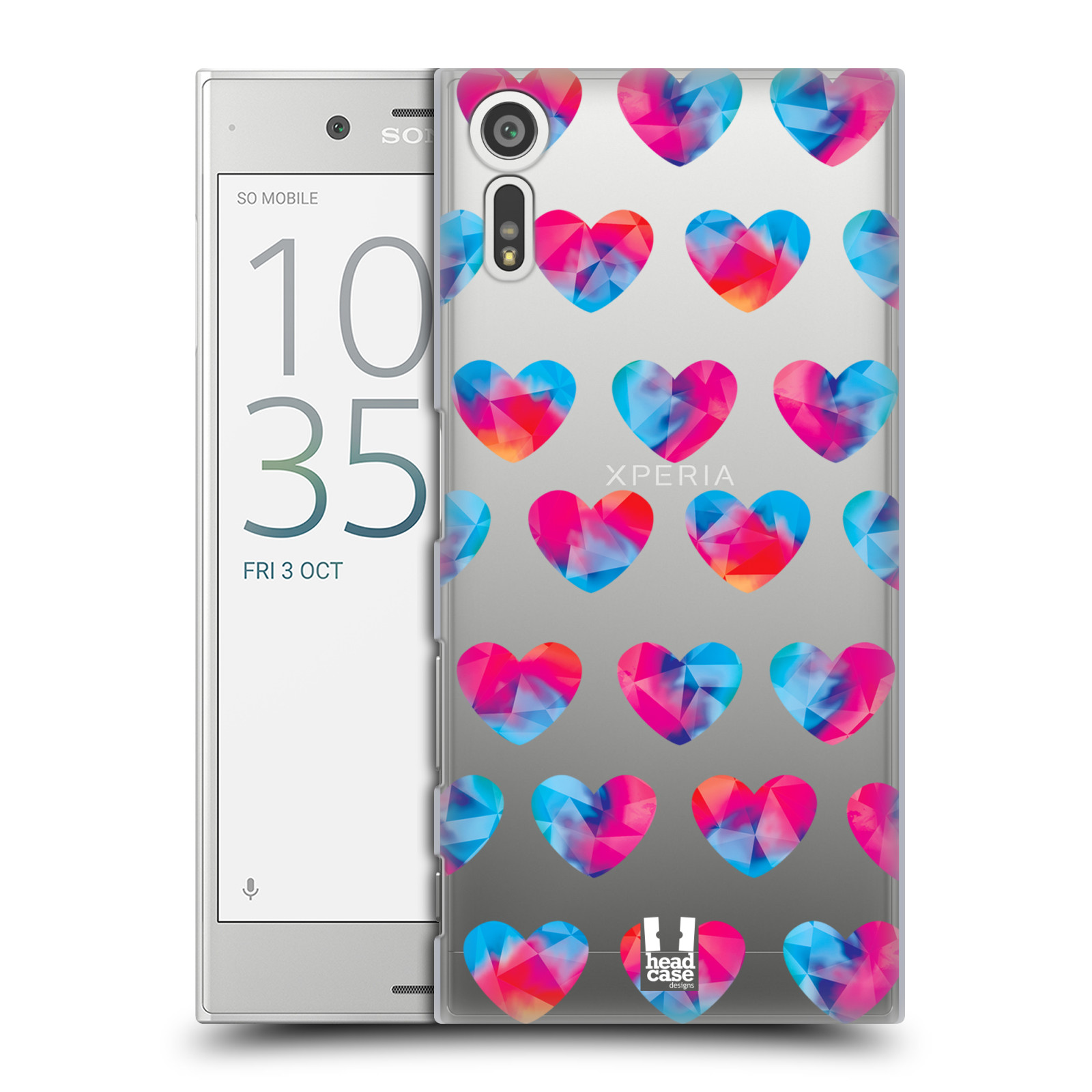 Plastové pouzdro na mobil Sony Xperia XZ - Head Case - Srdíčka hrající barvami (Plastový kryt či obal na mobilní telefon s motivem Srdíčka hrající barvami pro Sony Xperia XZ F8331 / Sony Xperia XZ Dual F8332)
