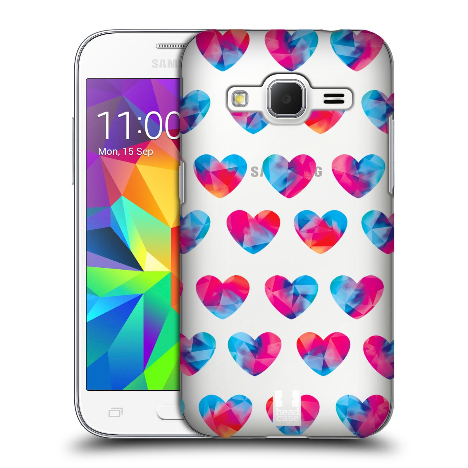Plastové pouzdro na mobil Samsung Galaxy Core Prime LTE - Head Case - Srdíčka hrající barvami
