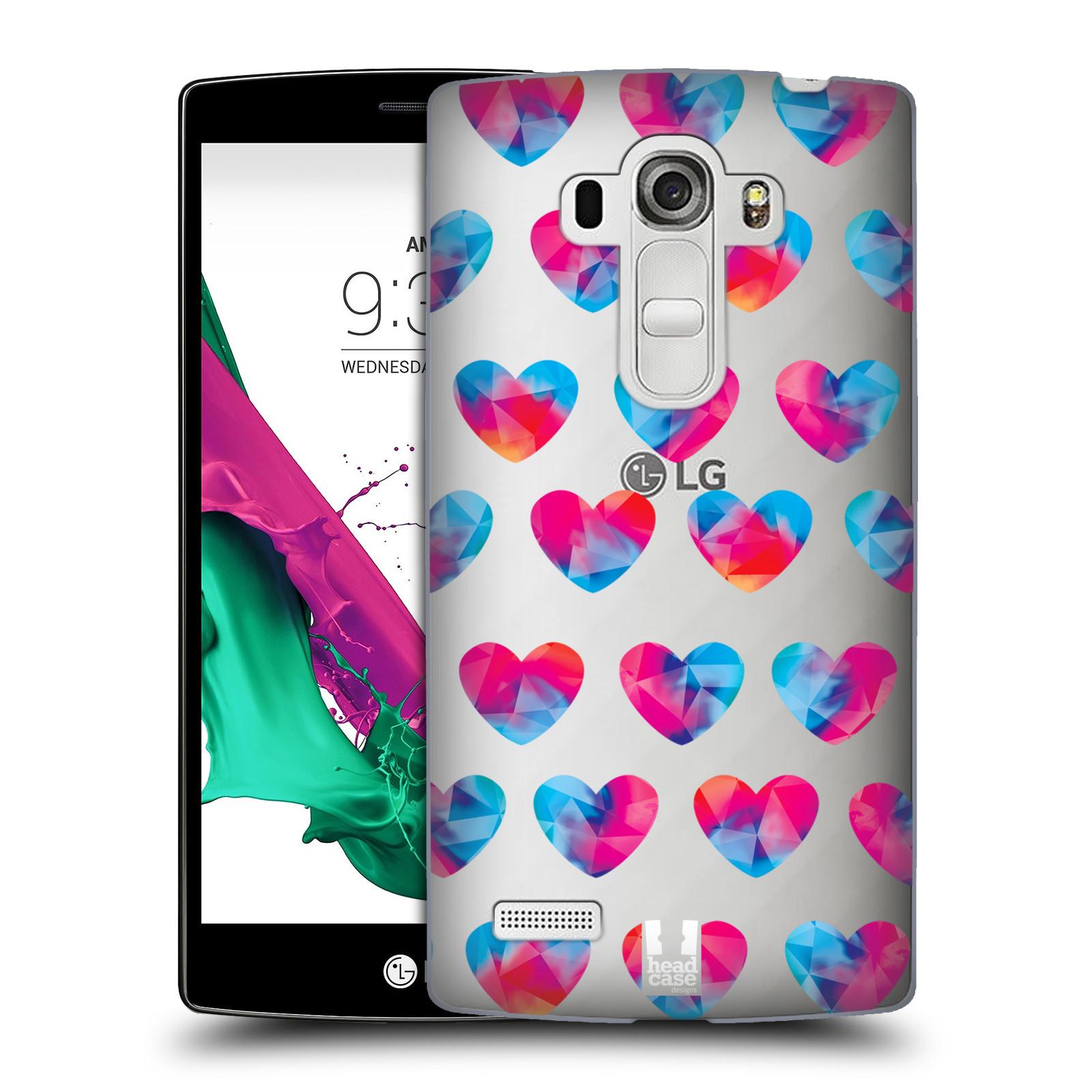 Plastové pouzdro na mobil LG G4s - Head Case - Srdíčka hrající barvami