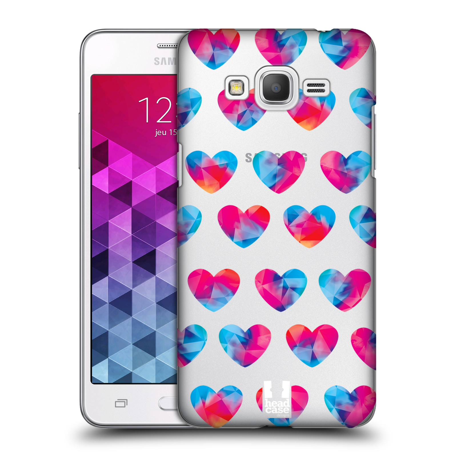 Plastové pouzdro na mobil Samsung Galaxy Grand Prime VE - Head Case - Srdíčka hrající barvami