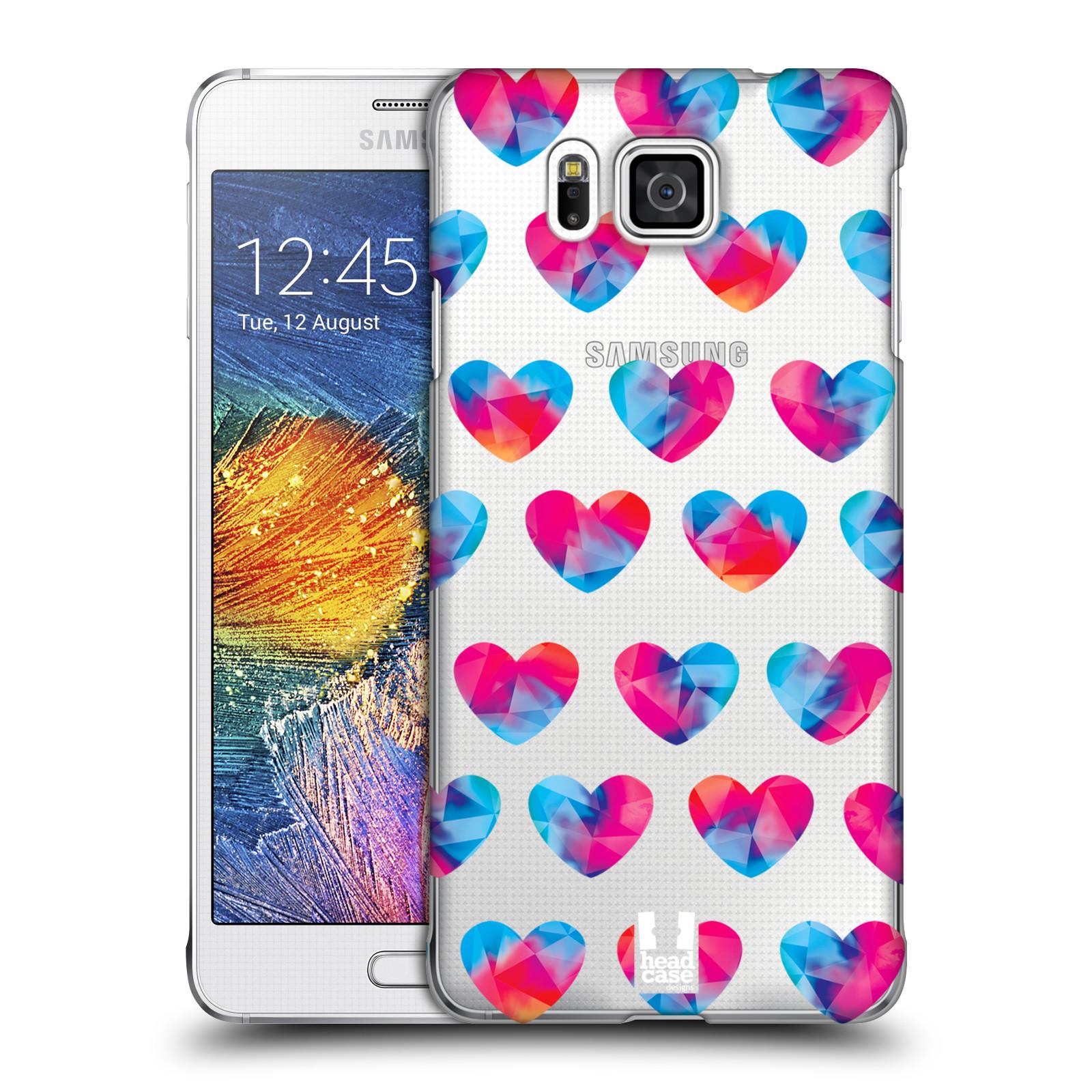 Plastové pouzdro na mobil Samsung Galaxy Alpha - Head Case - Srdíčka hrající barvami