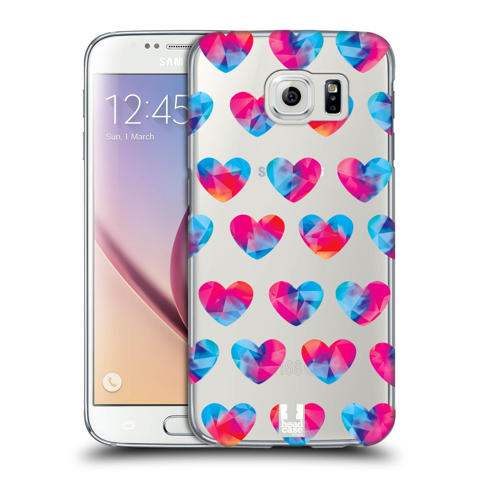 Plastové pouzdro na mobil Samsung Galaxy S6 - Head Case - Srdíčka hrající barvami