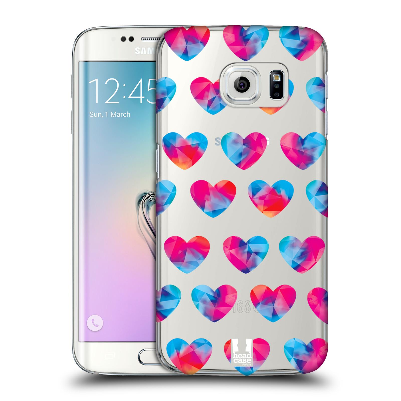 Plastové pouzdro na mobil Samsung Galaxy S6 Edge - Head Case - Srdíčka hrající barvami