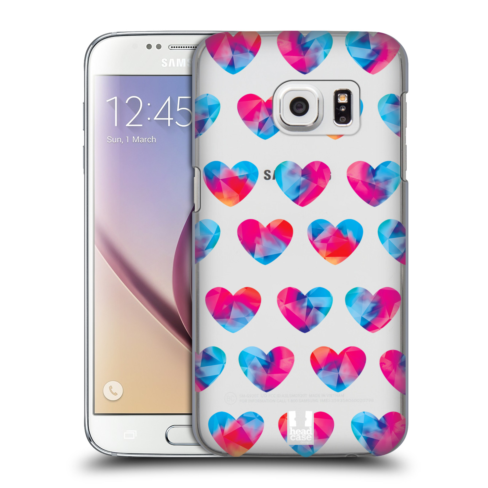 Plastové pouzdro na mobil Samsung Galaxy S7 - Head Case - Srdíčka hrající barvami