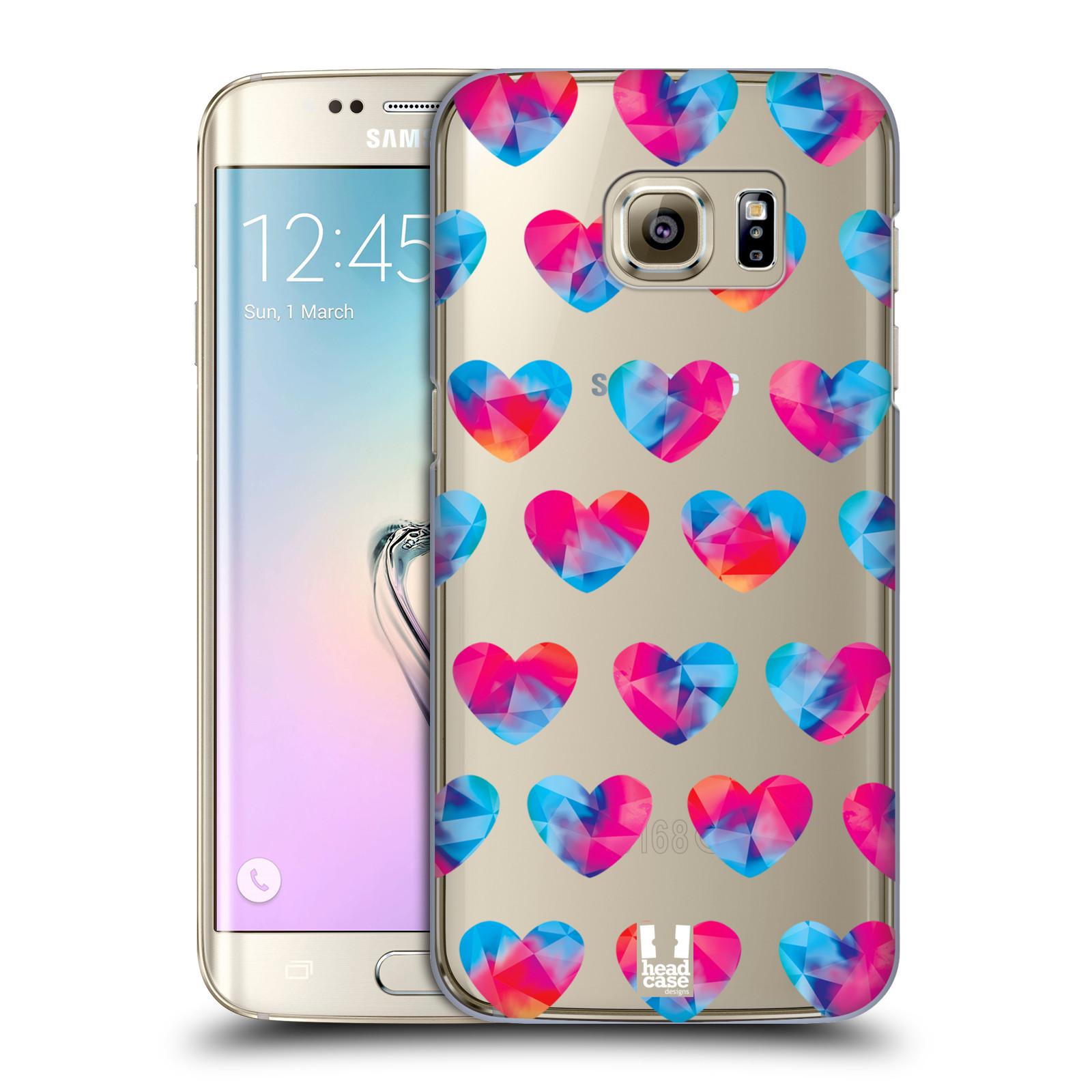 Plastové pouzdro na mobil Samsung Galaxy S7 Edge - Head Case - Srdíčka hrající barvami
