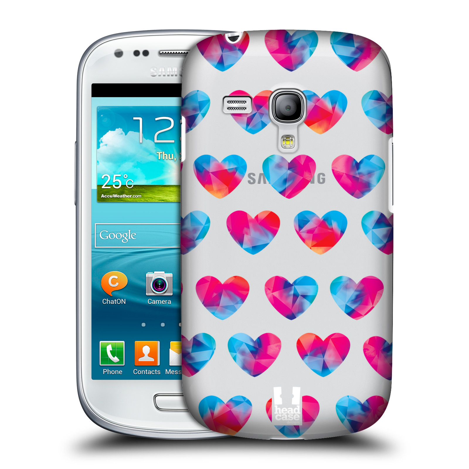 Plastové pouzdro na mobil Samsung Galaxy S III Mini - Head Case - Srdíčka hrající barvami