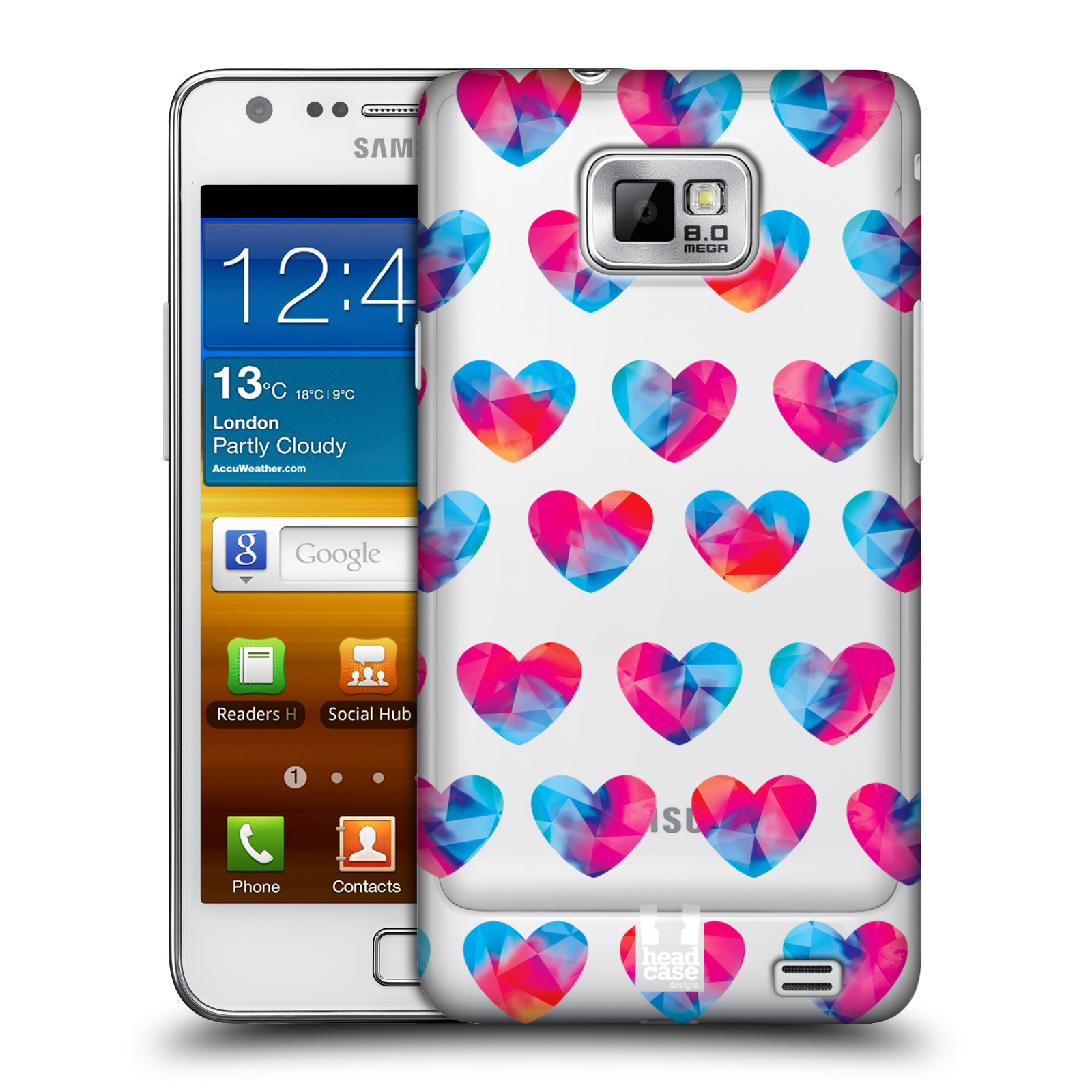 Plastové pouzdro na mobil Samsung Galaxy S II - Head Case - Srdíčka hrající barvami