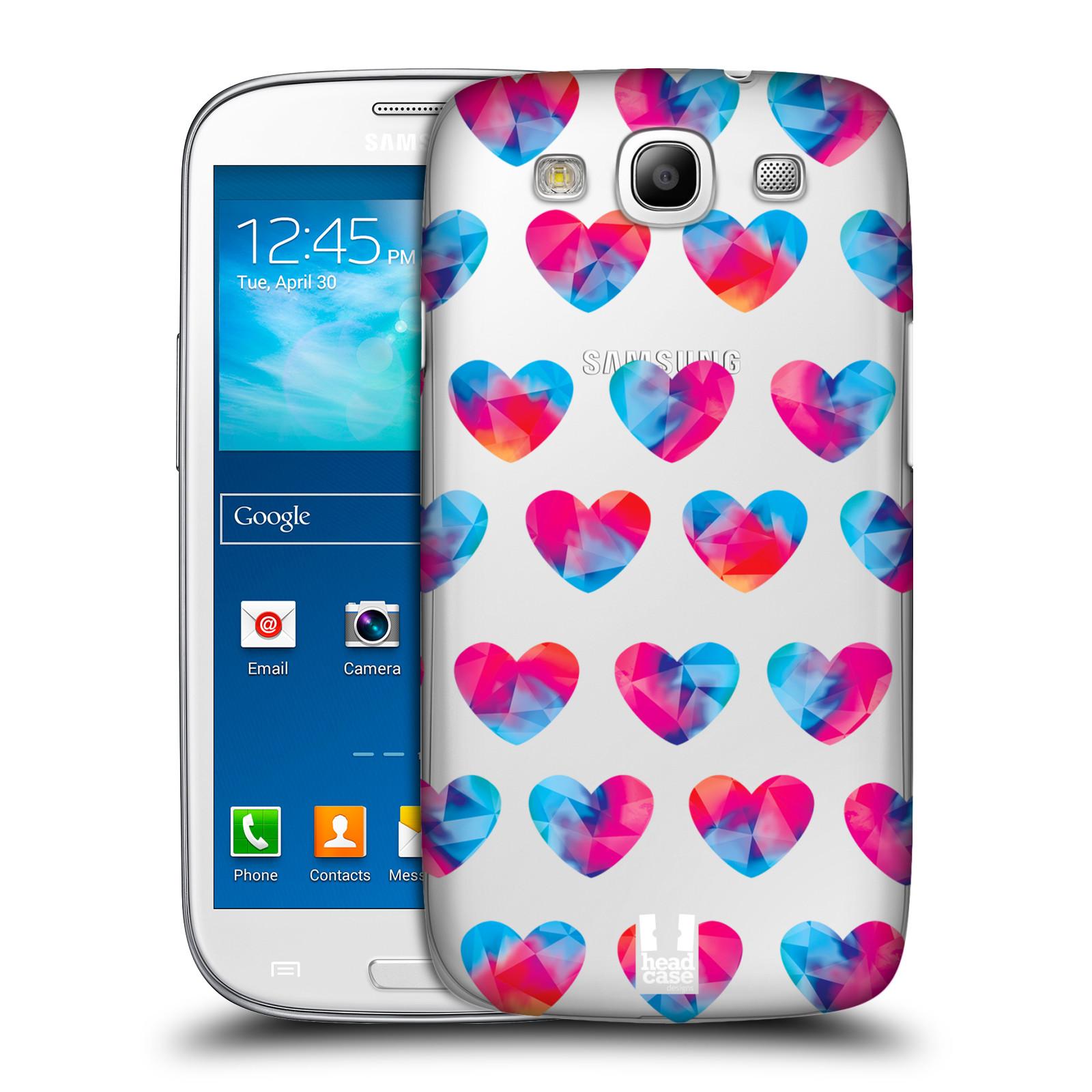 Plastové pouzdro na mobil Samsung Galaxy S3 Neo - Head Case - Srdíčka hrající barvami