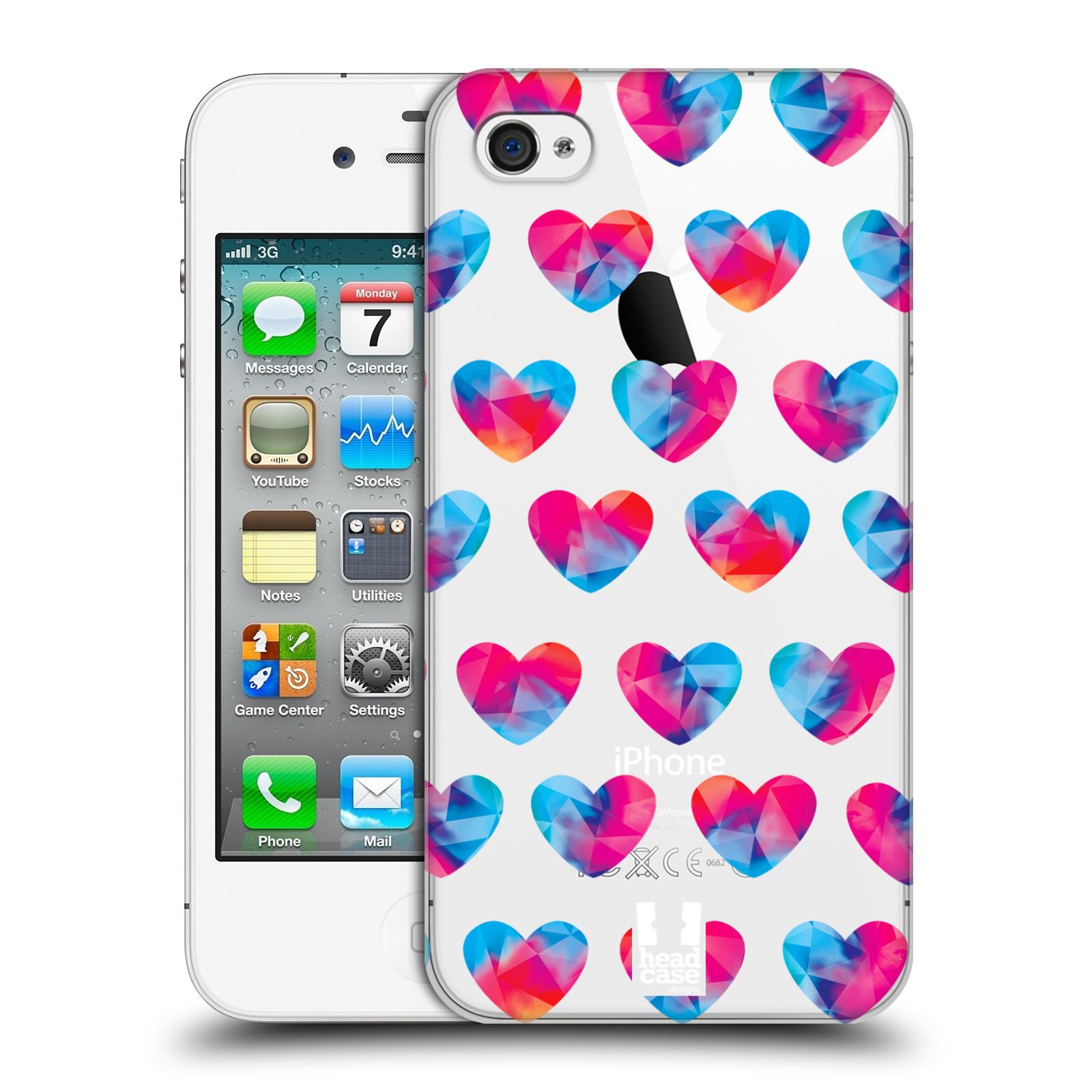 Plastové pouzdro na mobil Apple iPhone 4 a 4S - Head Case - Srdíčka hrající barvami