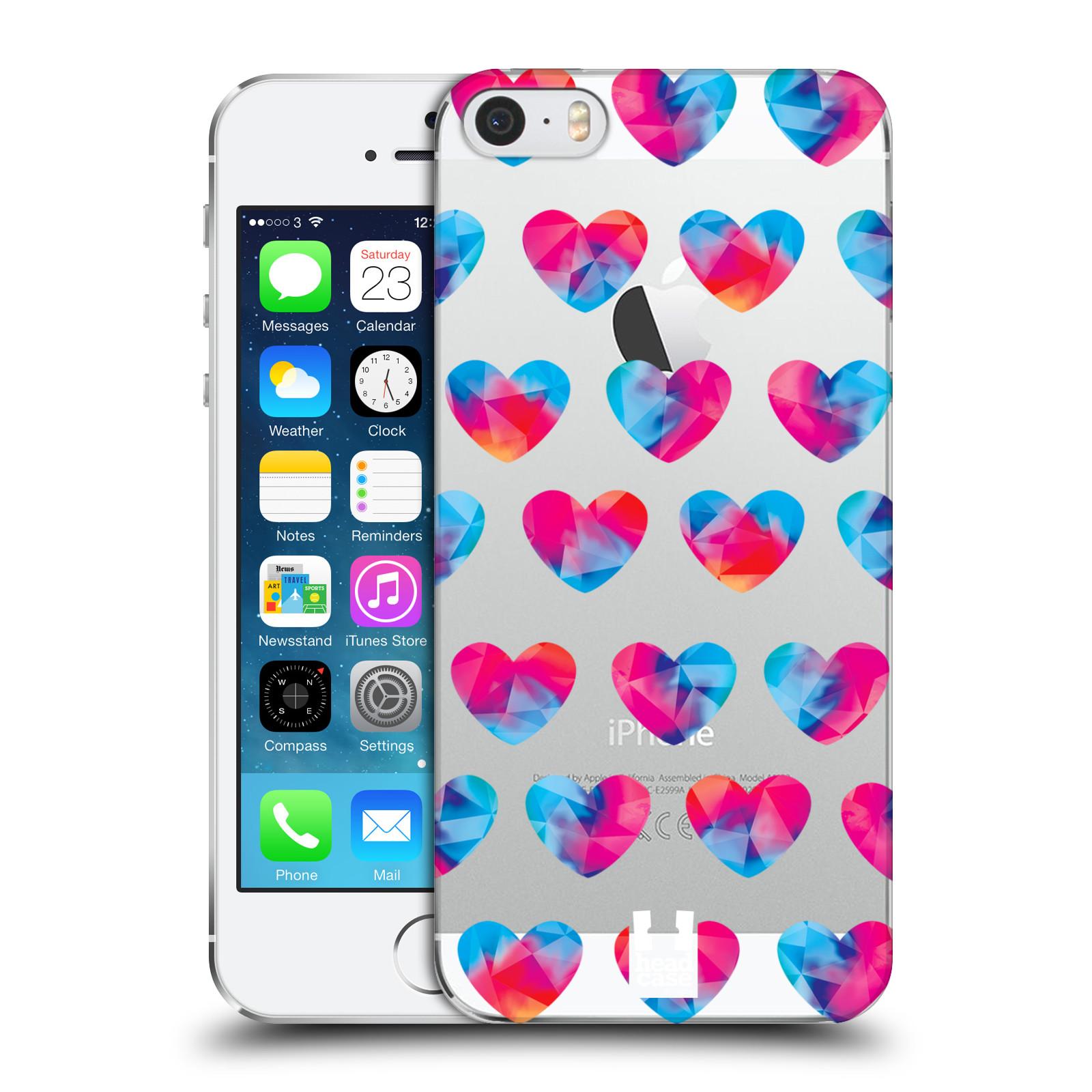 Plastové pouzdro na mobil Apple iPhone SE, 5 a 5S - Head Case - Srdíčka hrající barvami
