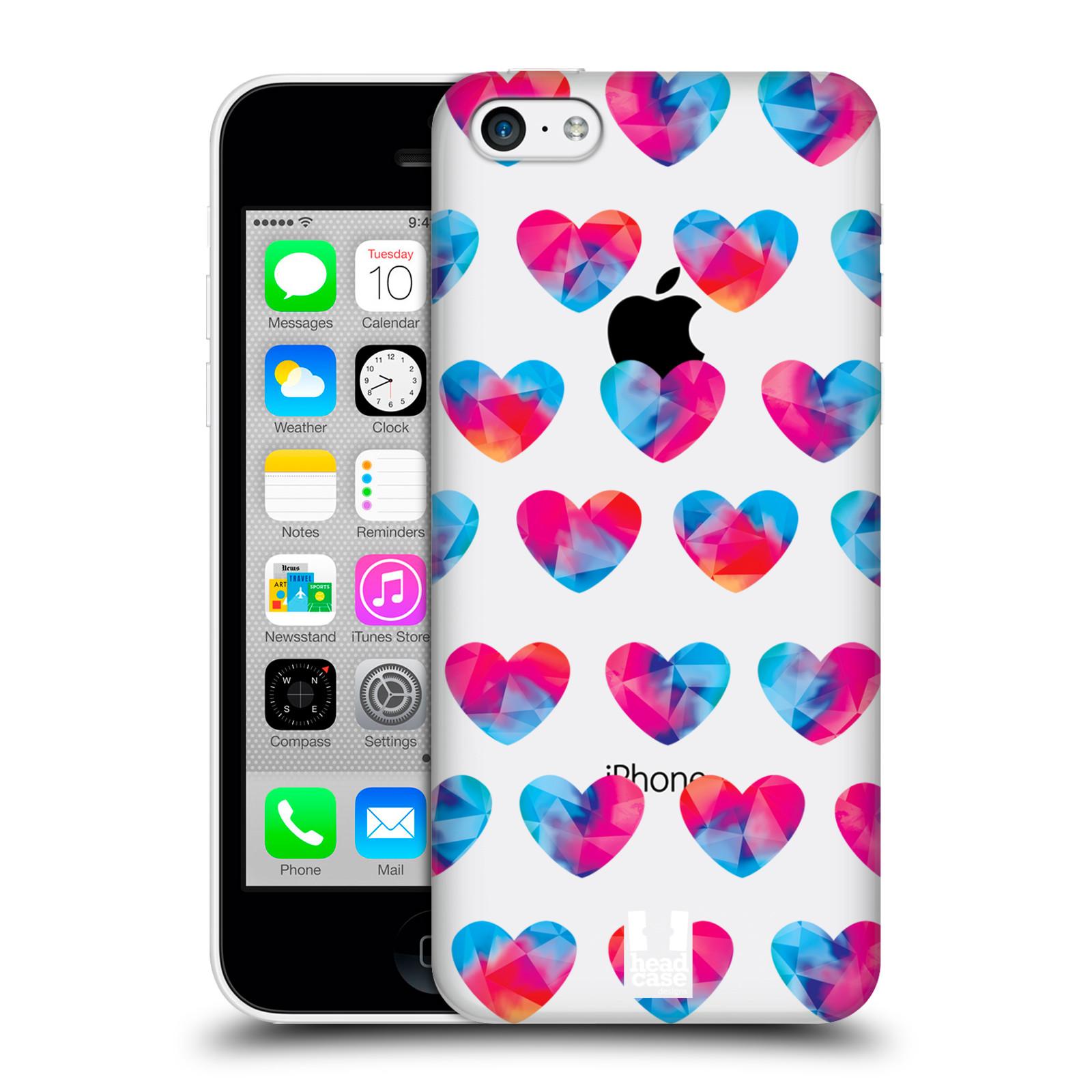 Plastové pouzdro na mobil Apple iPhone 5C - Head Case - Srdíčka hrající barvami