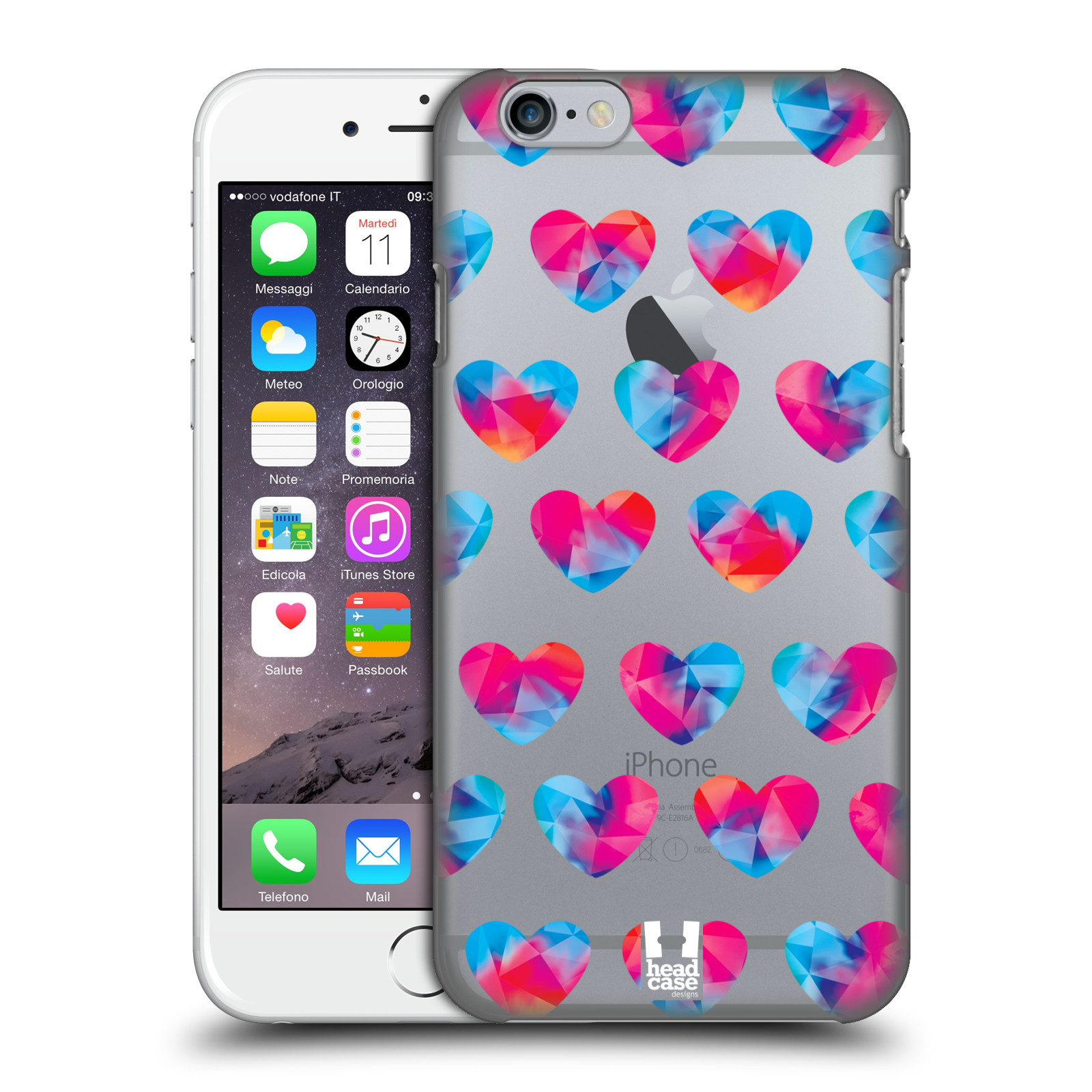 Plastové pouzdro na mobil Apple iPhone 6 - Head Case - Srdíčka hrající barvami