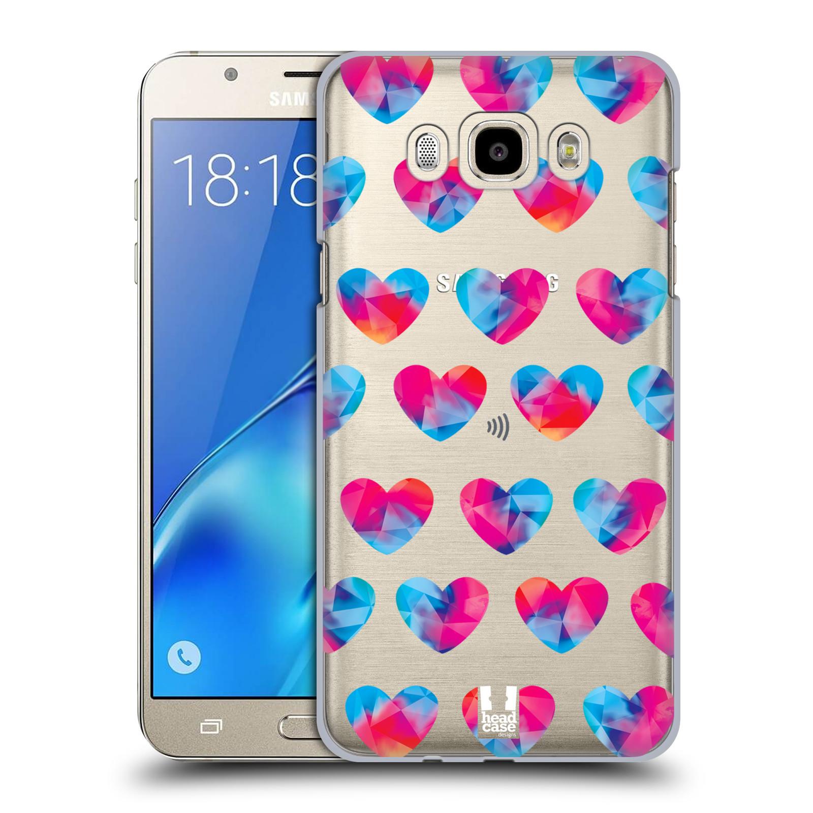 Plastové pouzdro na mobil Samsung Galaxy J7 (2016) - Head Case - Srdíčka hrající barvami