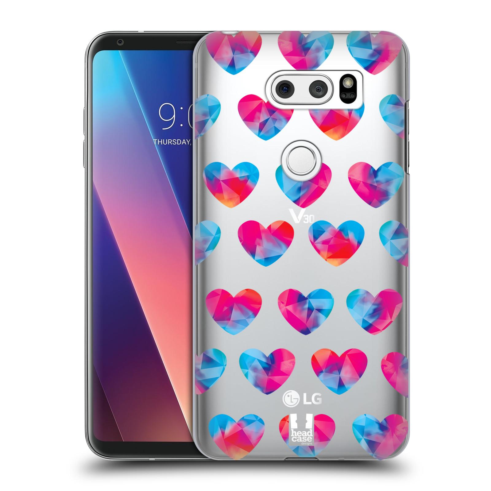 Plastové pouzdro na mobil LG V30 - Head Case - Srdíčka hrající barvami