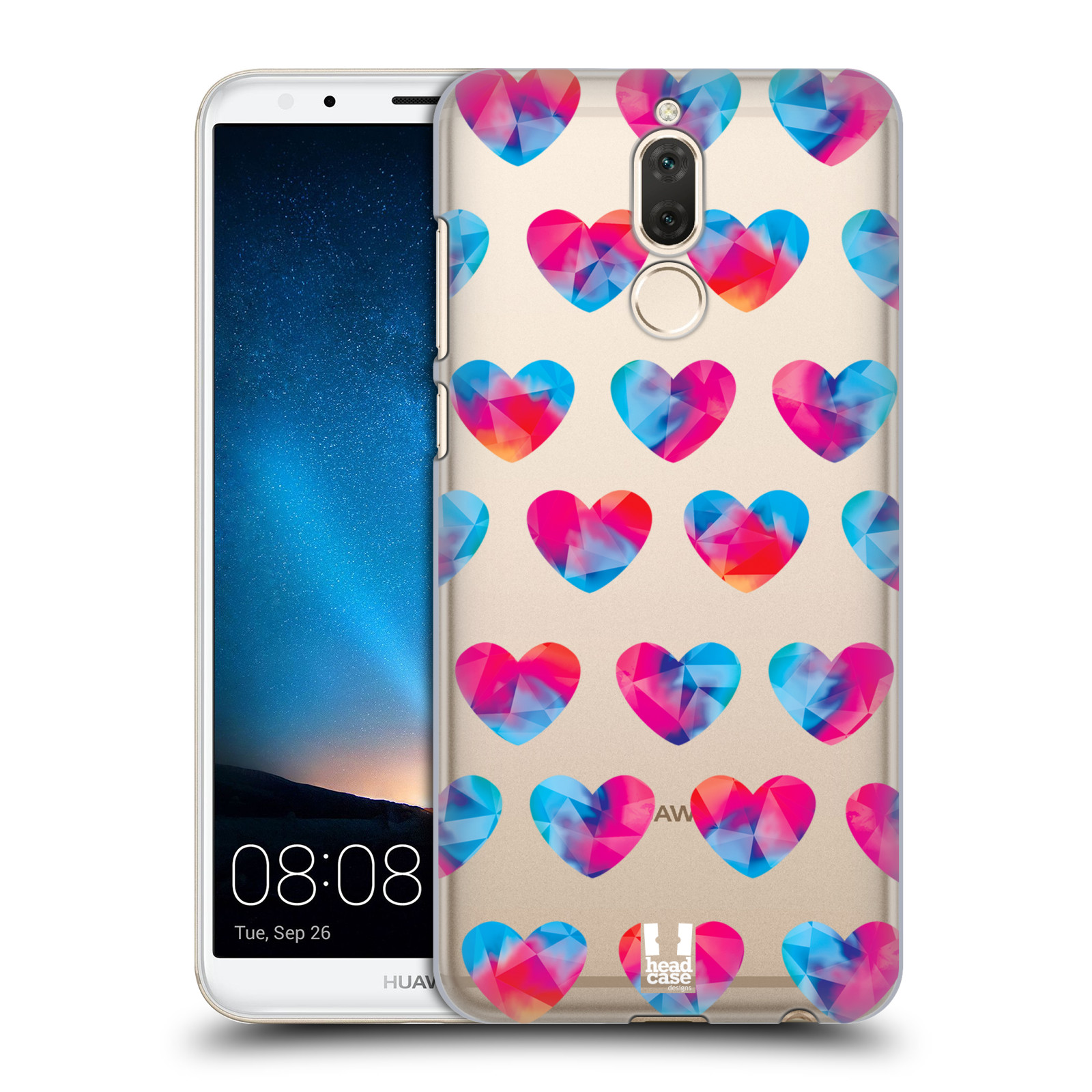 Plastové pouzdro na mobil Huawei Mate 10 Lite - Head Case - Srdíčka hrající barvami
