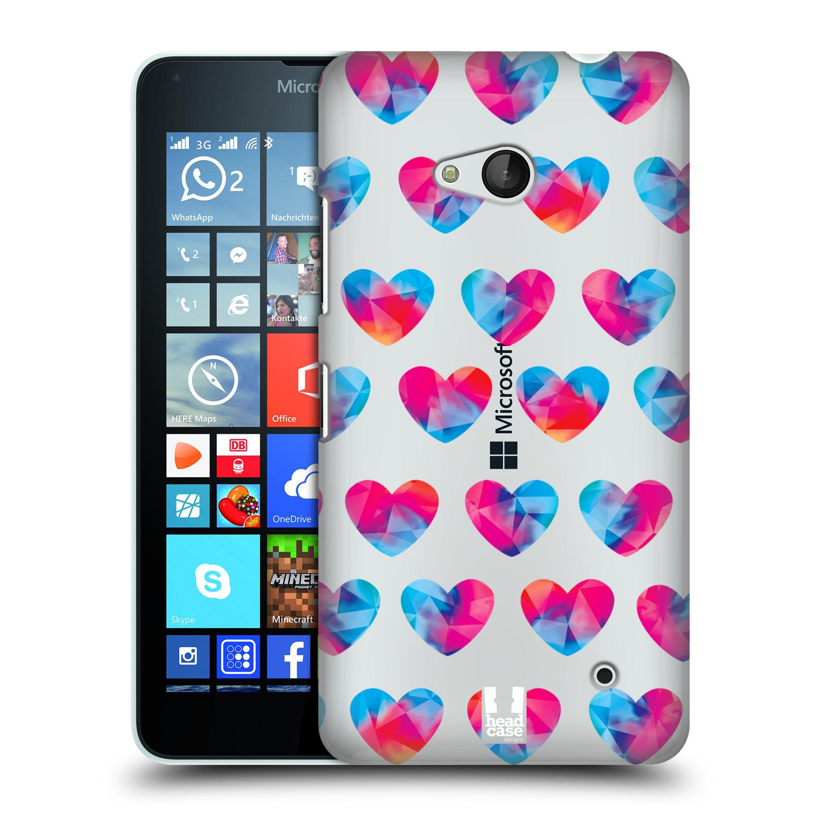 Plastové pouzdro na mobil Microsoft Lumia 640 - Head Case - Srdíčka hrající barvami