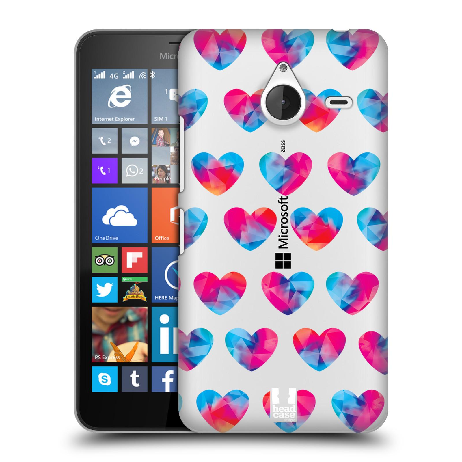 Plastové pouzdro na mobil Microsoft Lumia 640 XL - Head Case - Srdíčka hrající barvami