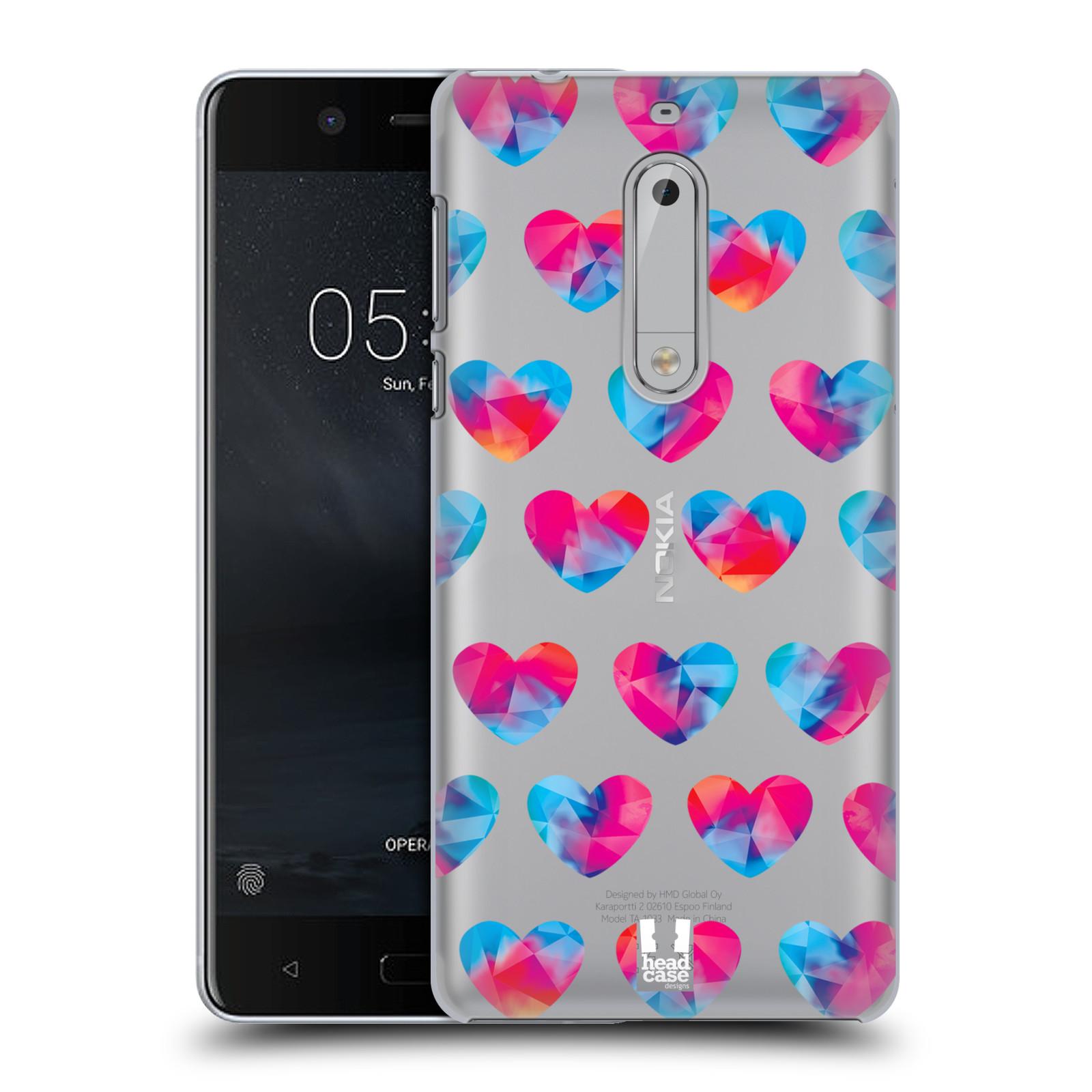 Plastové pouzdro na mobil Nokia 5 Head Case - Srdíčka hrající barvami