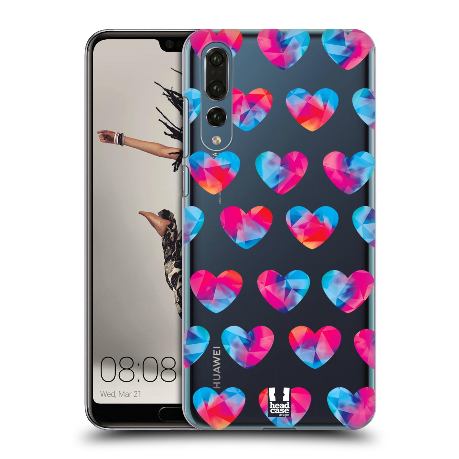 Plastové pouzdro na mobil Huawei P20 Pro - Head Case - Srdíčka hrající barvami