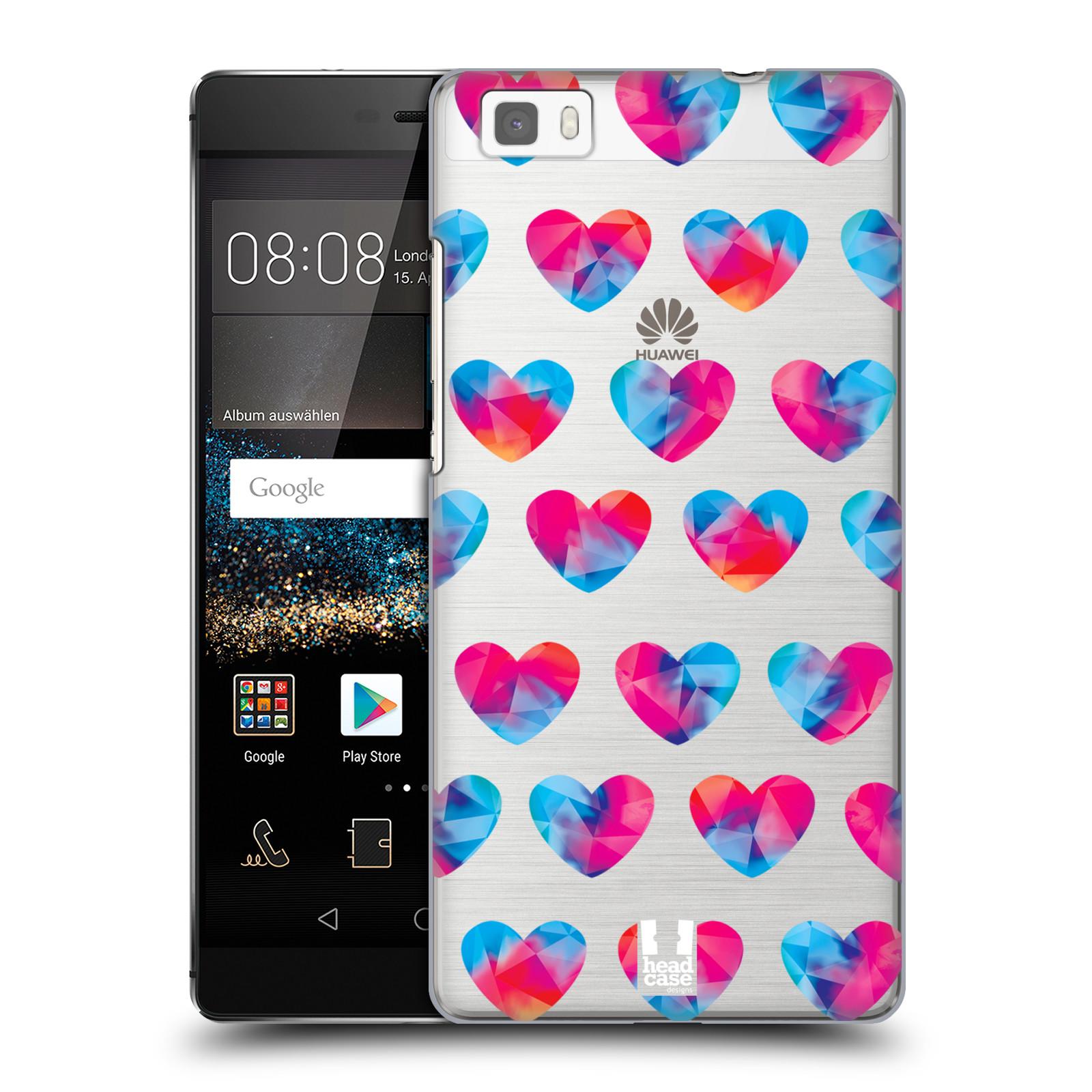 Plastové pouzdro na mobil Huawei P8 Lite - Head Case - Srdíčka hrající barvami