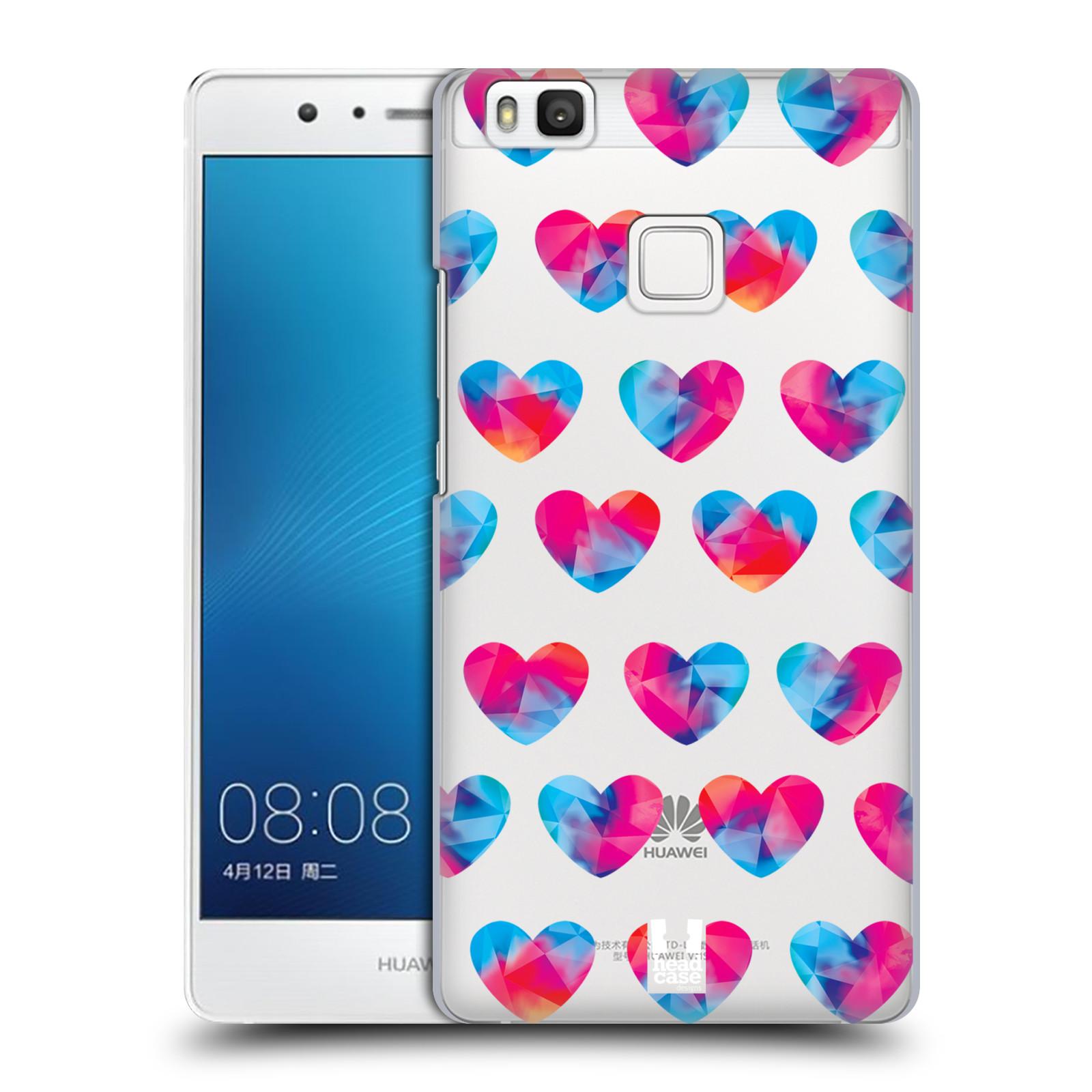 Plastové pouzdro na mobil Huawei P9 Lite - Head Case - Srdíčka hrající barvami