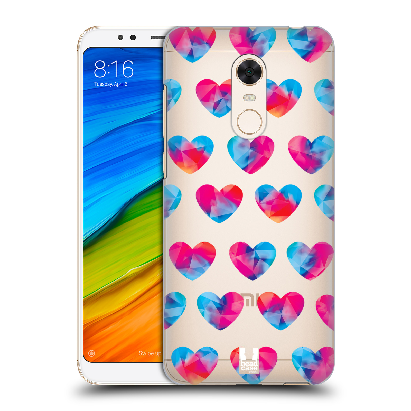 Plastové pouzdro na mobil Xiaomi Redmi 5 Plus - Head Case - Srdíčka hrající barvami