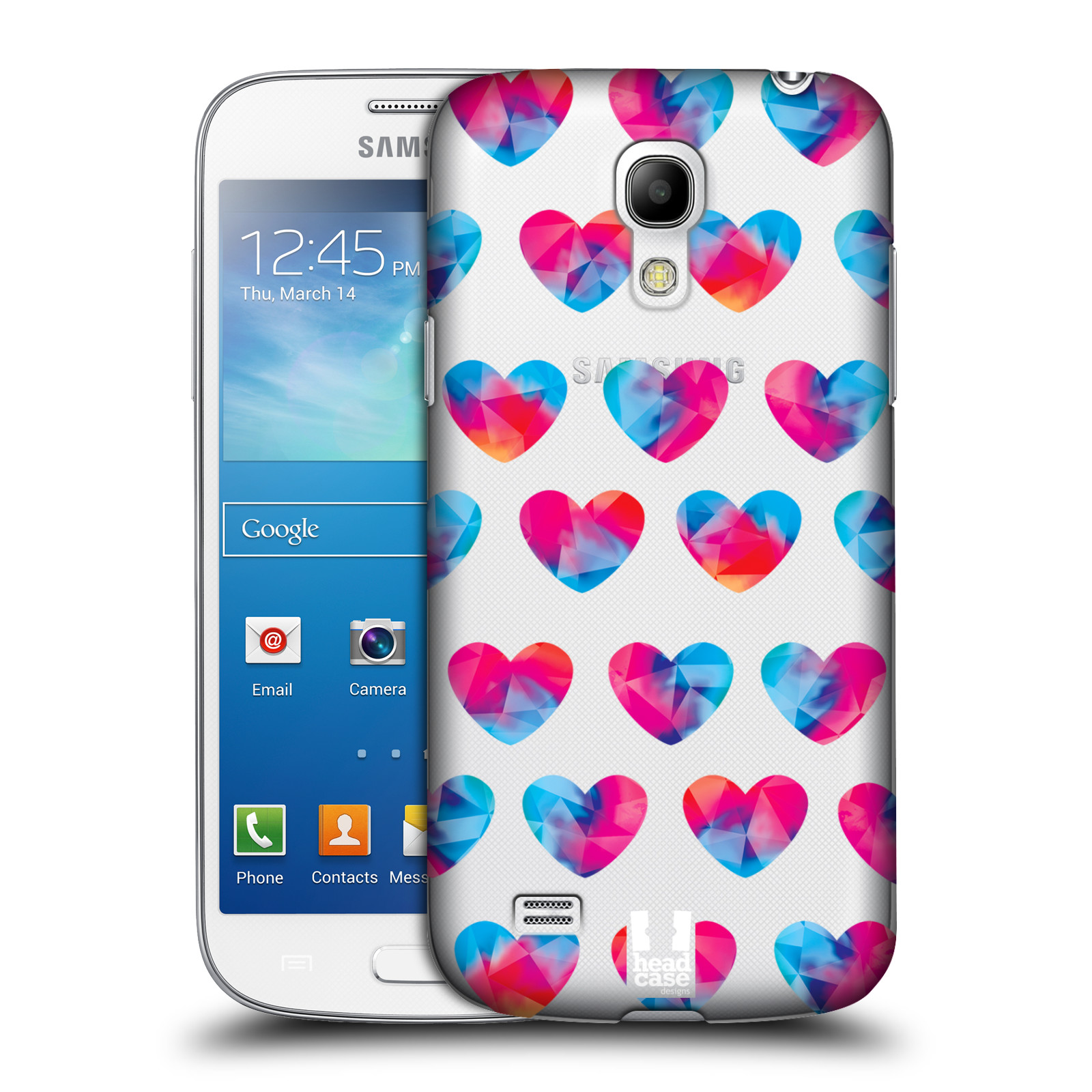 Plastové pouzdro na mobil Samsung Galaxy S4 Mini - Head Case - Srdíčka hrající barvami