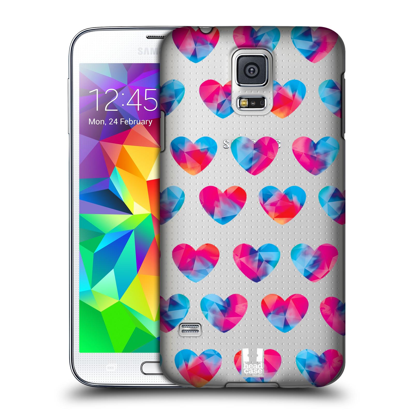 Plastové pouzdro na mobil Samsung Galaxy S5 - Head Case - Srdíčka hrající barvami
