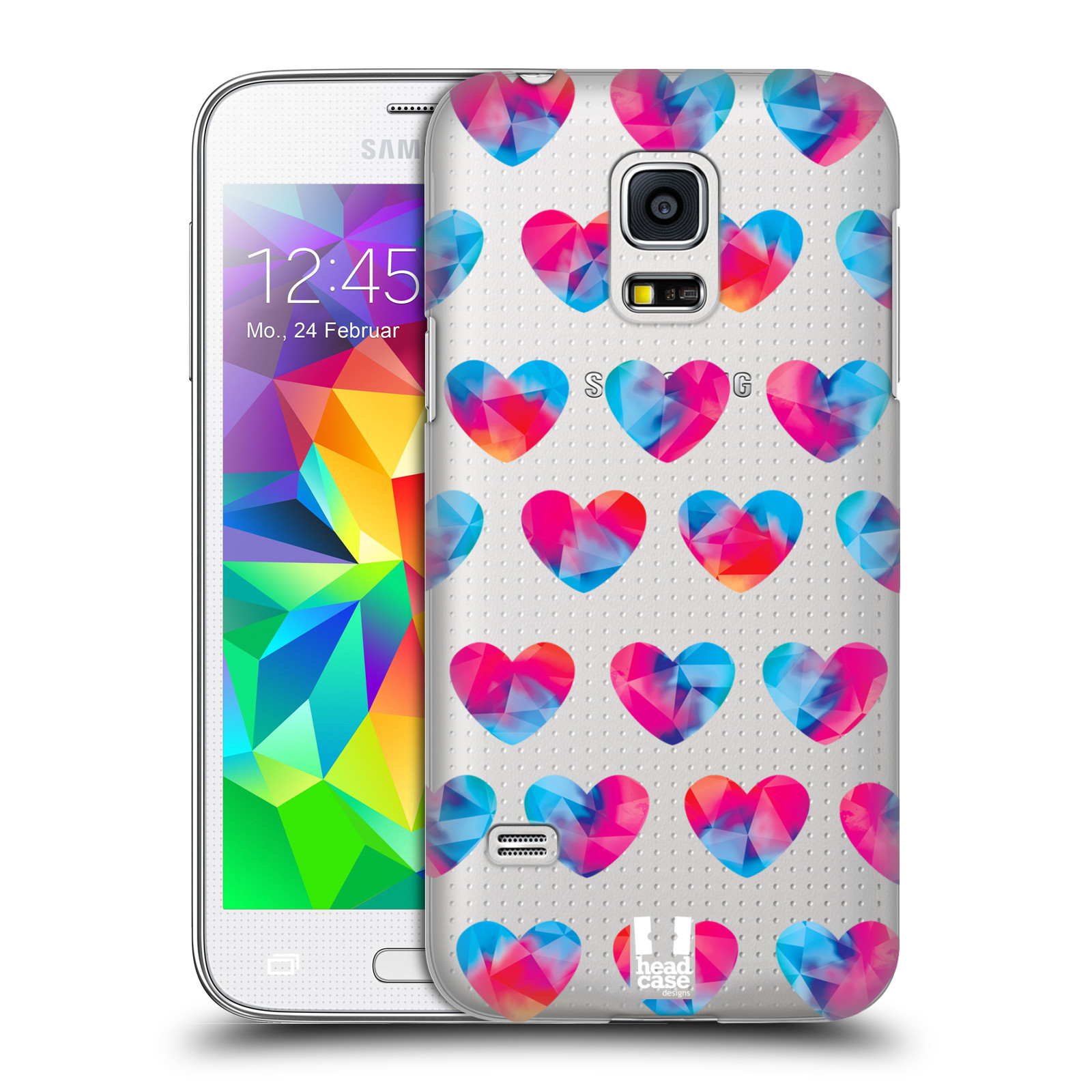 Plastové pouzdro na mobil Samsung Galaxy S5 Mini - Head Case - Srdíčka hrající barvami
