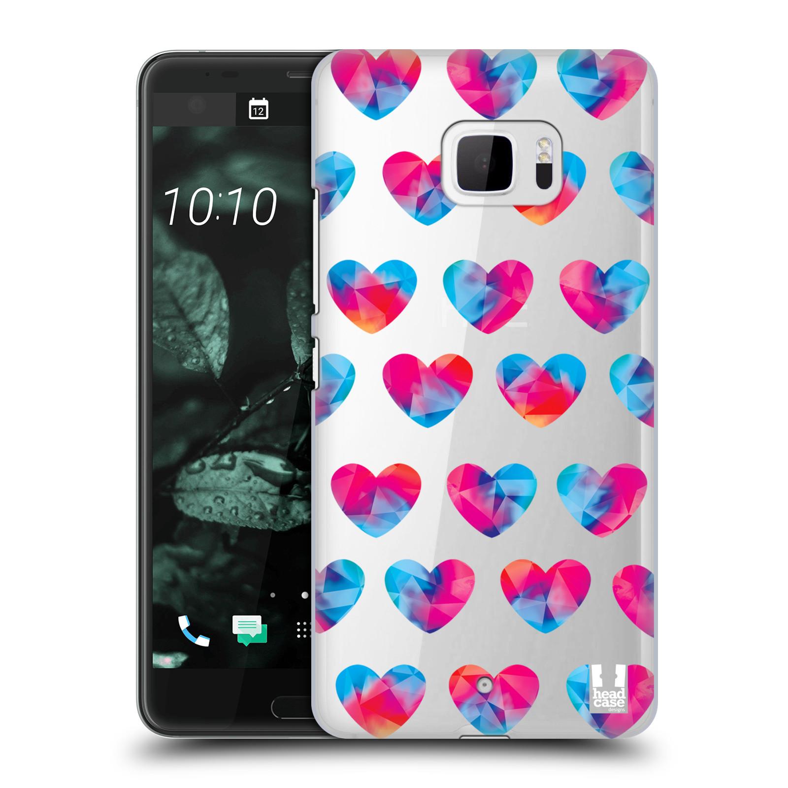 Plastové pouzdro na mobil HTC U Ultra Head Case - Srdíčka hrající barvami