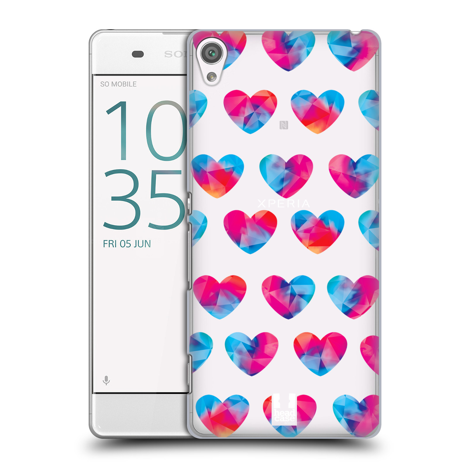 Plastové pouzdro na mobil Sony Xperia XA - Head Case - Srdíčka hrající barvami