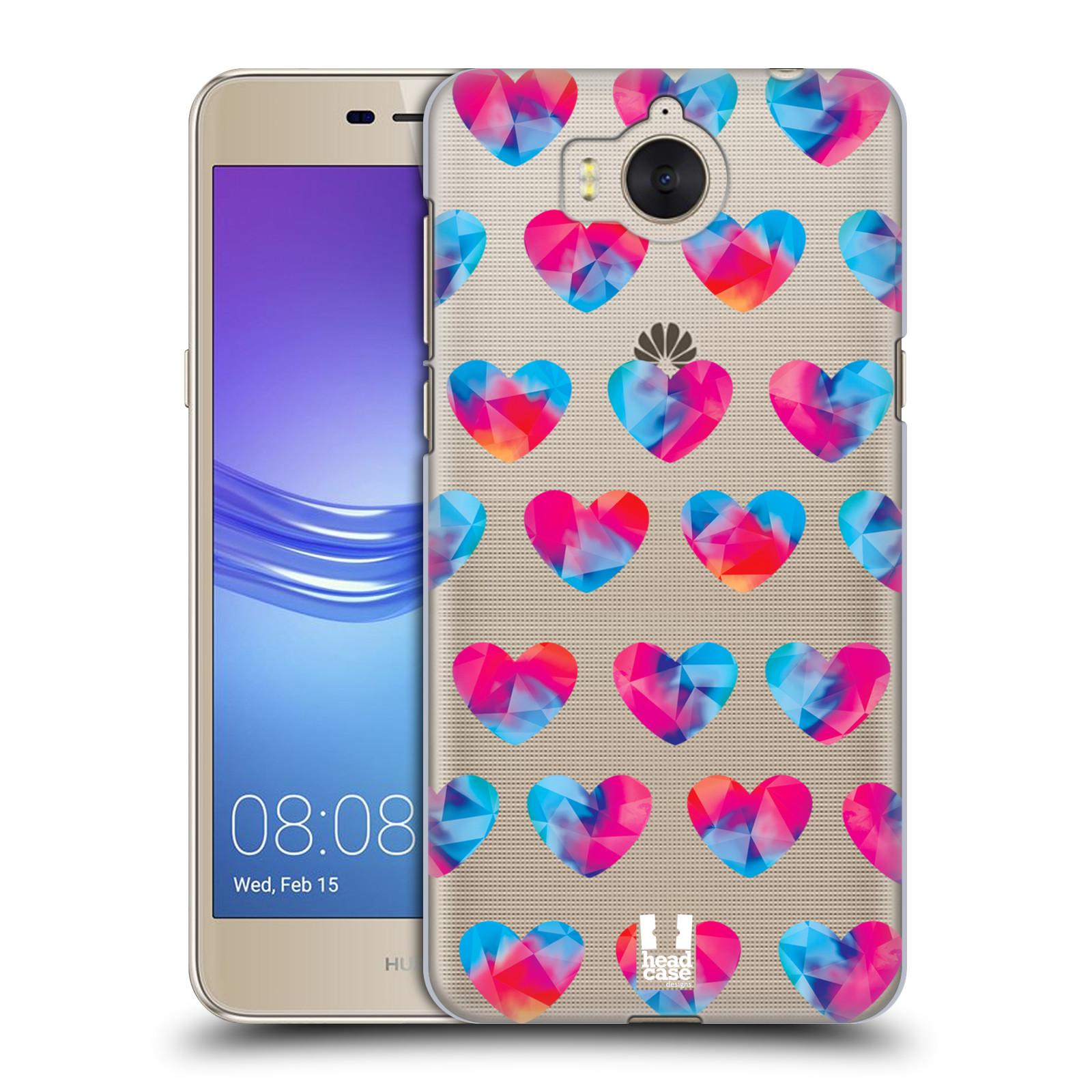 Plastové pouzdro na mobil Huawei Y6 2017 - Head Case - Srdíčka hrající barvami