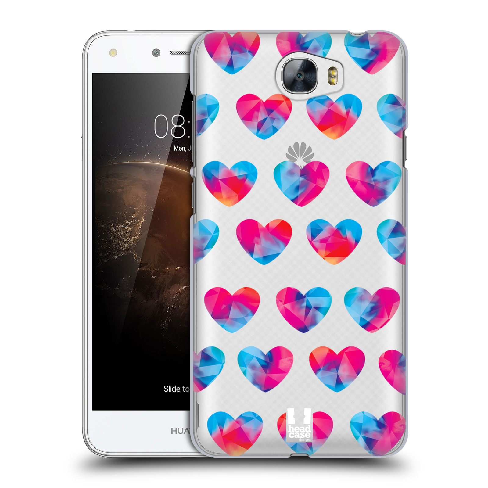 Plastové pouzdro na mobil Huawei Y5 II - Head Case - Srdíčka hrající barvami