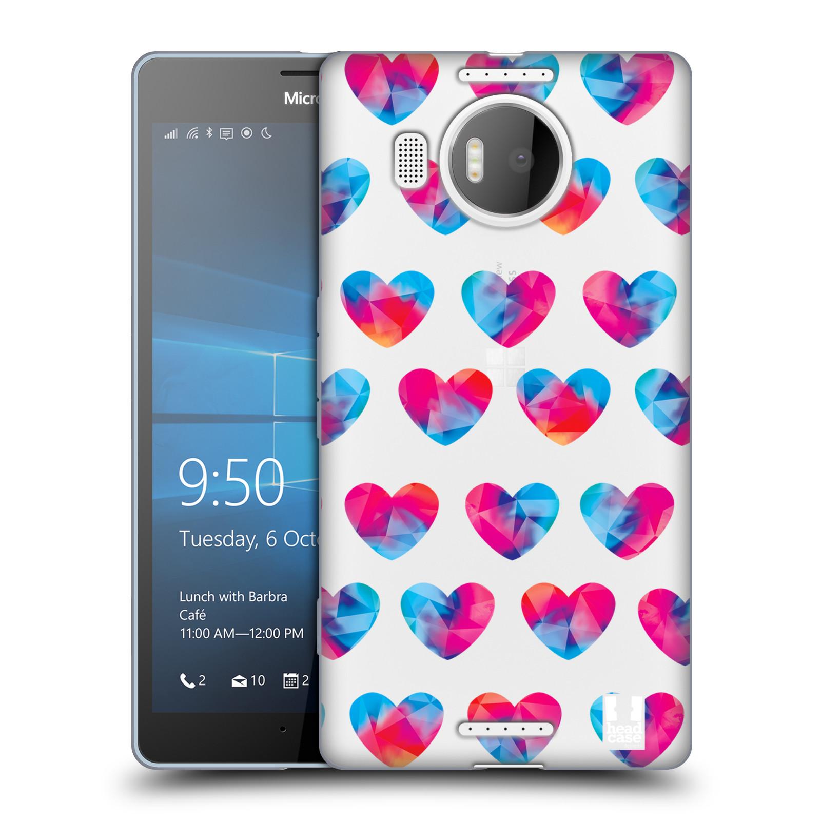 Silikonové pouzdro na mobil Microsoft Lumia 950 XL - Head Case - Srdíčka hrající barvami