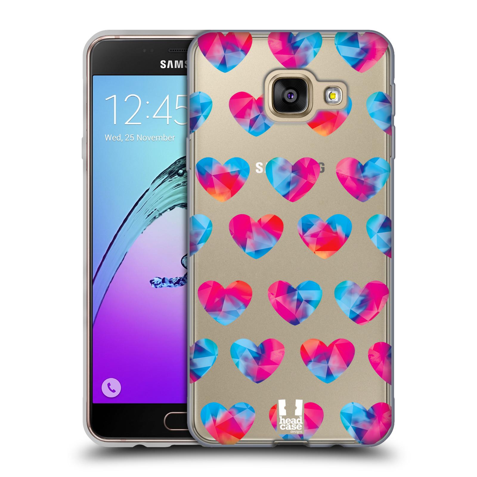 Silikonové pouzdro na mobil Samsung Galaxy A3 (2016) - Head Case - Srdíčka hrající barvami