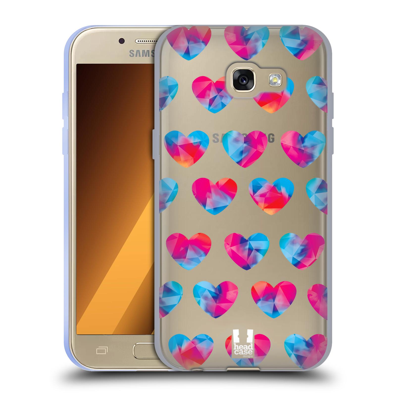 Silikonové pouzdro na mobil Samsung Galaxy A3 (2017) - Head Case - Srdíčka hrající barvami