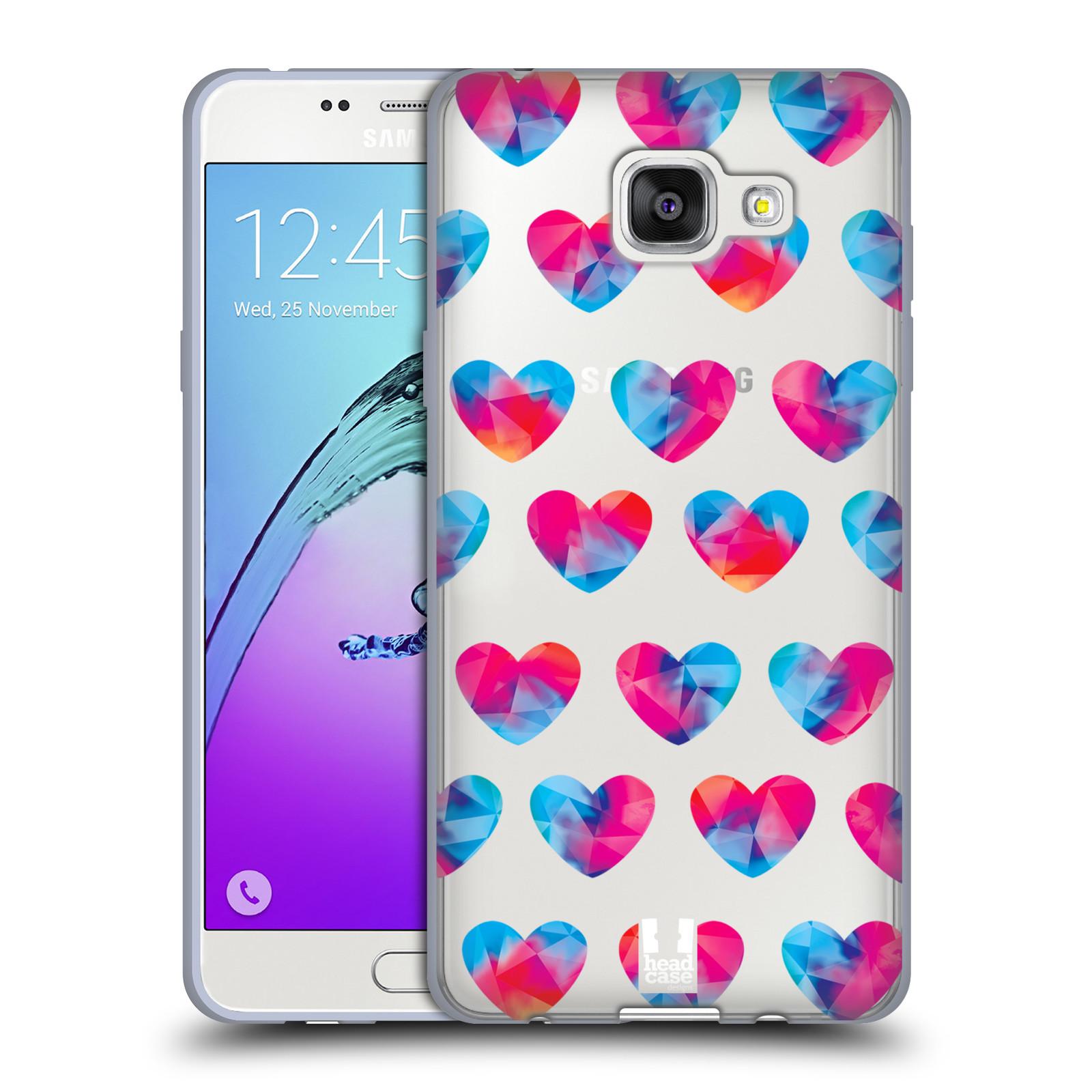 Silikonové pouzdro na mobil Samsung Galaxy A5 (2016) - Head Case - Srdíčka hrající barvami