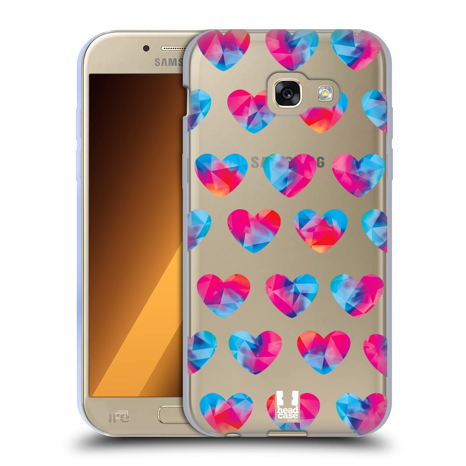 Silikonové pouzdro na mobil Samsung Galaxy A5 (2017) - Head Case - Srdíčka hrající barvami