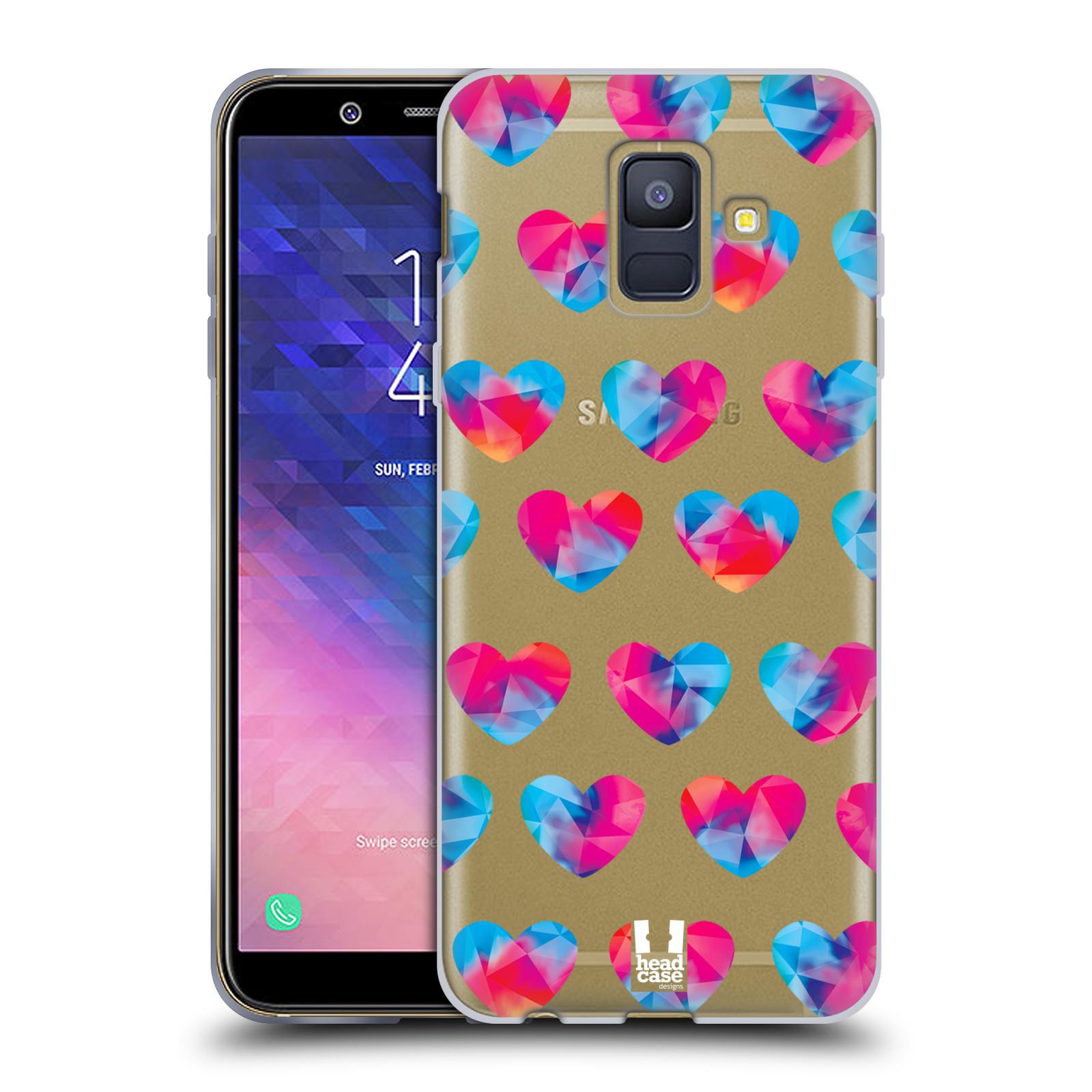 Silikonové pouzdro na mobil Samsung Galaxy A6 (2018) - Head Case - Srdíčka hrající barvami