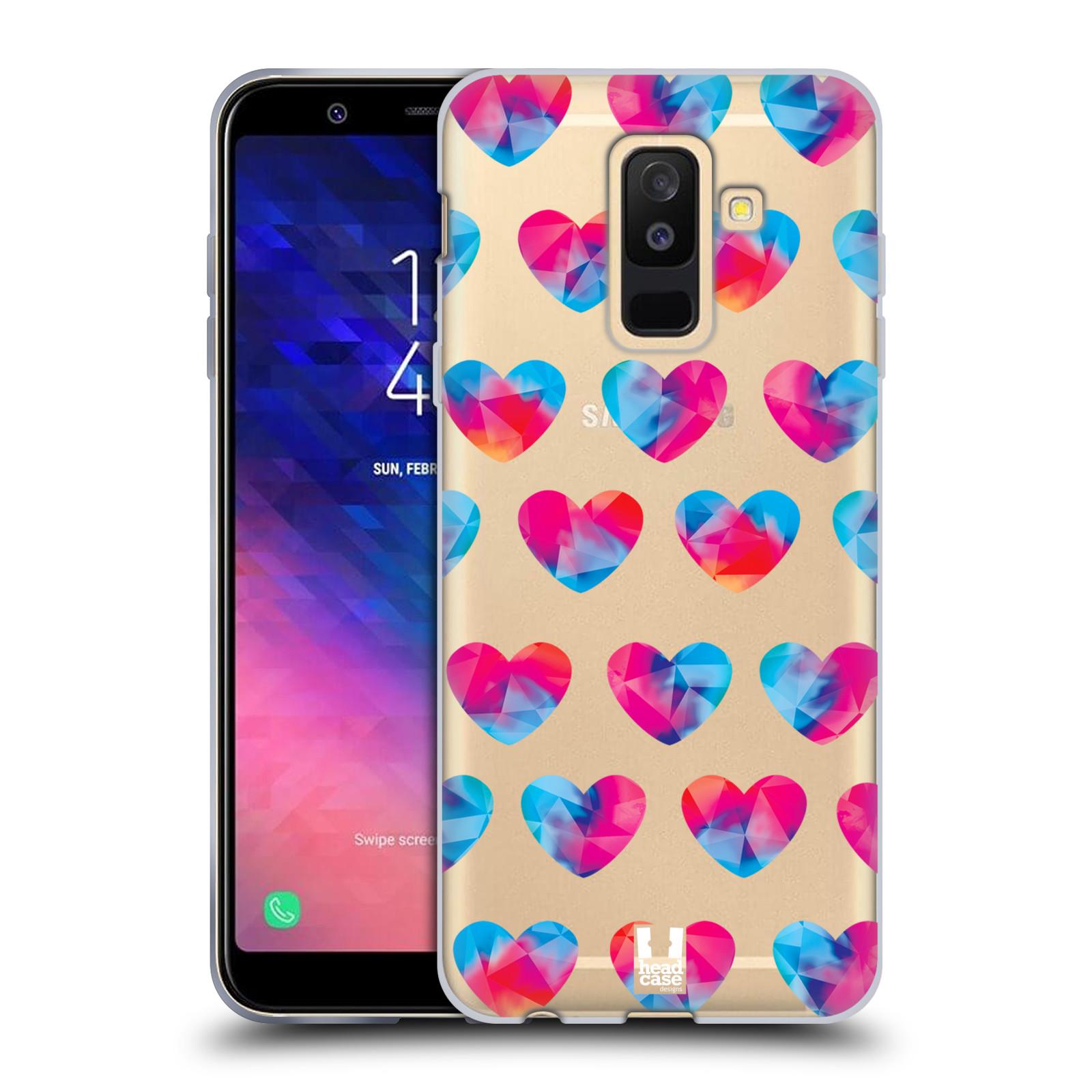 Silikonové pouzdro na mobil Samsung Galaxy A6 Plus (2018) - Head Case - Srdíčka hrající barvami
