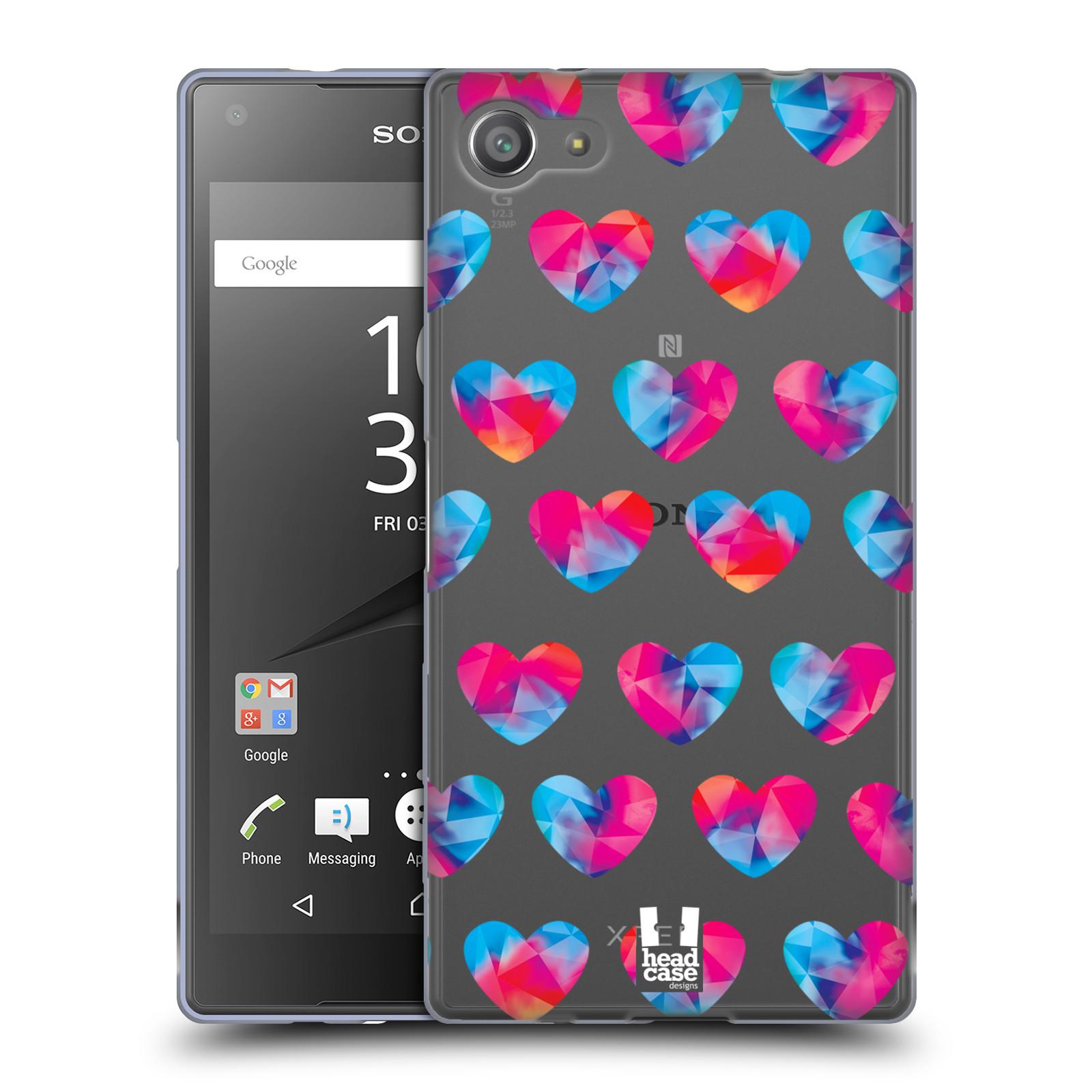 Silikonové pouzdro na mobil Sony Xperia Z5 Compact - Head Case - Srdíčka hrající barvami