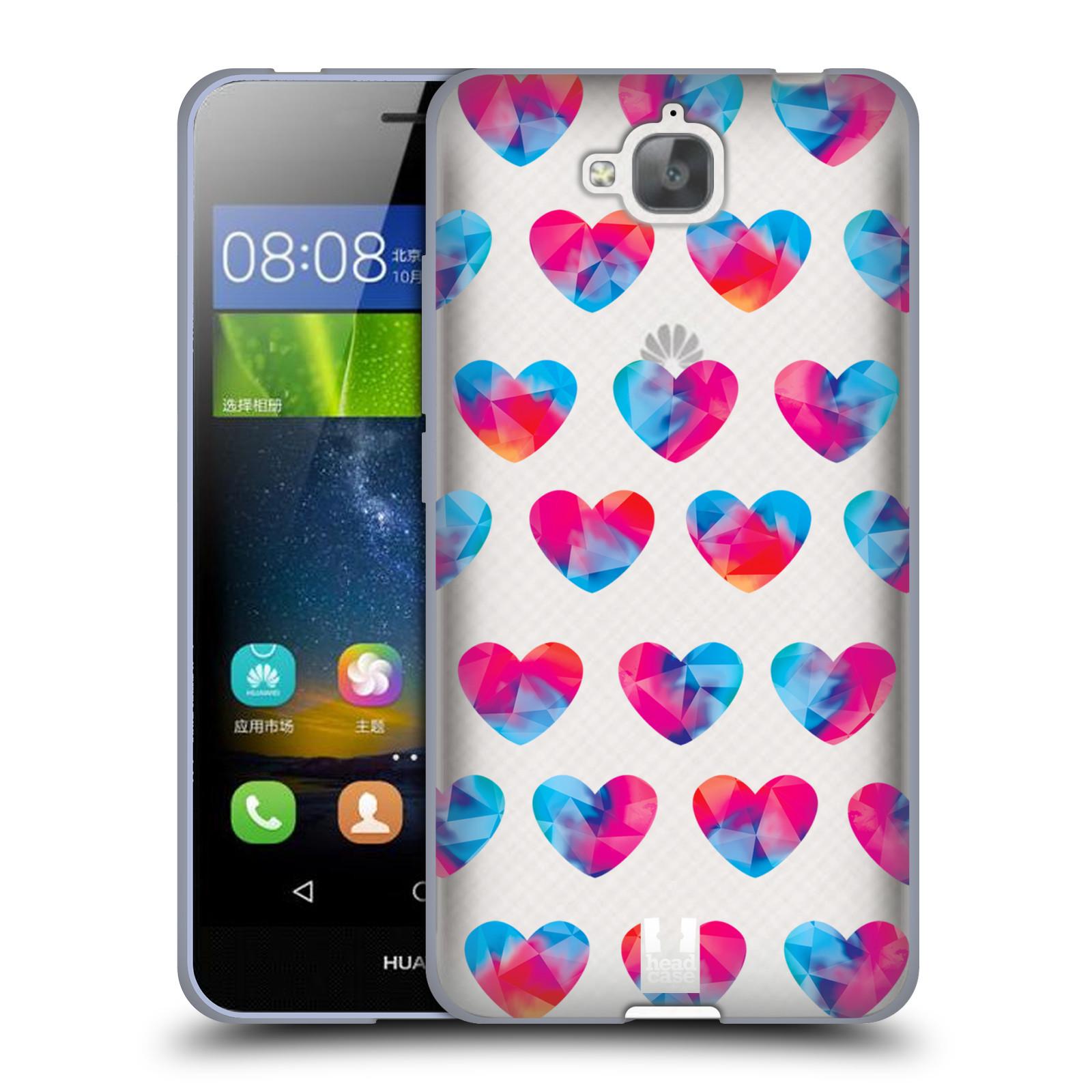 Silikonové pouzdro na mobil Huawei Y6 Pro Dual Sim - Head Case - Srdíčka hrající barvami